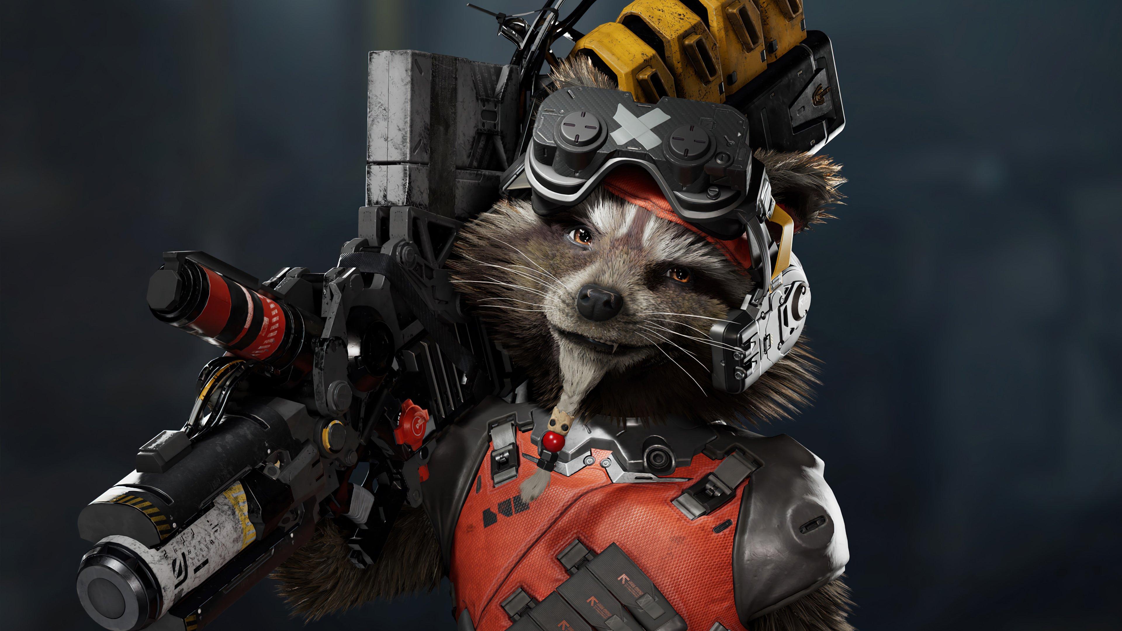 Wallpaper Rocket Raccoon Marvels Guardians of the galaxy