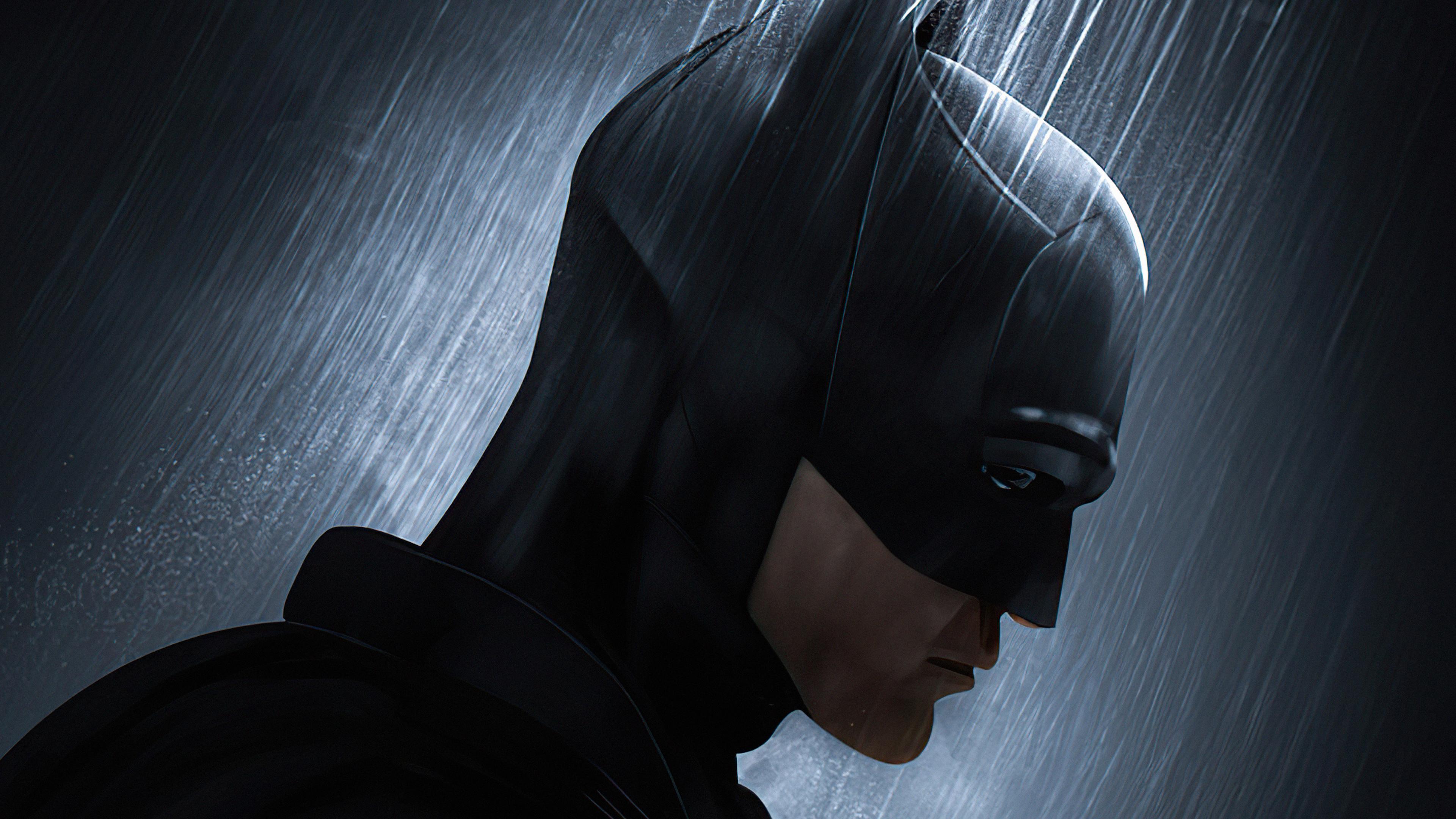 Wallpaper Robert Pattinson's face as Batman