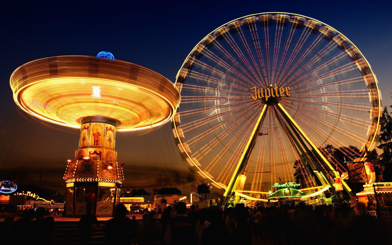 Wallpaper Ferris wheel Jupiter ferris