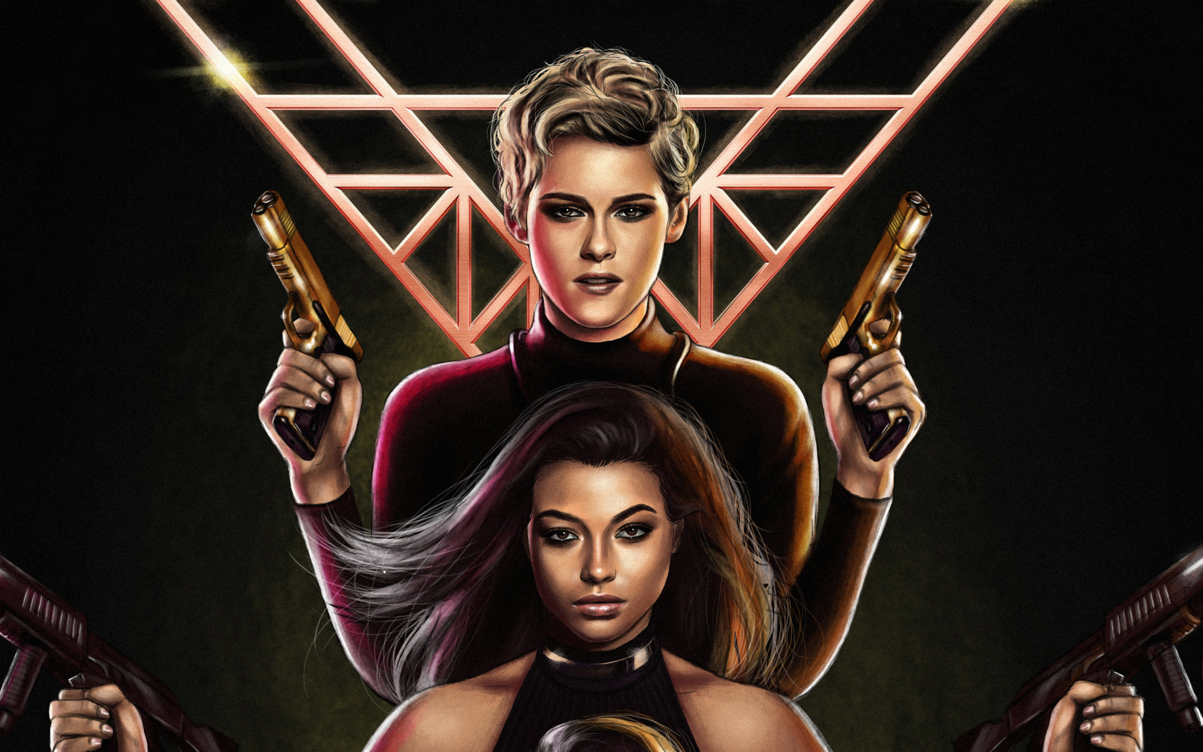 Wallpaper Sabrina and Jane in Charlie's Angels 2019