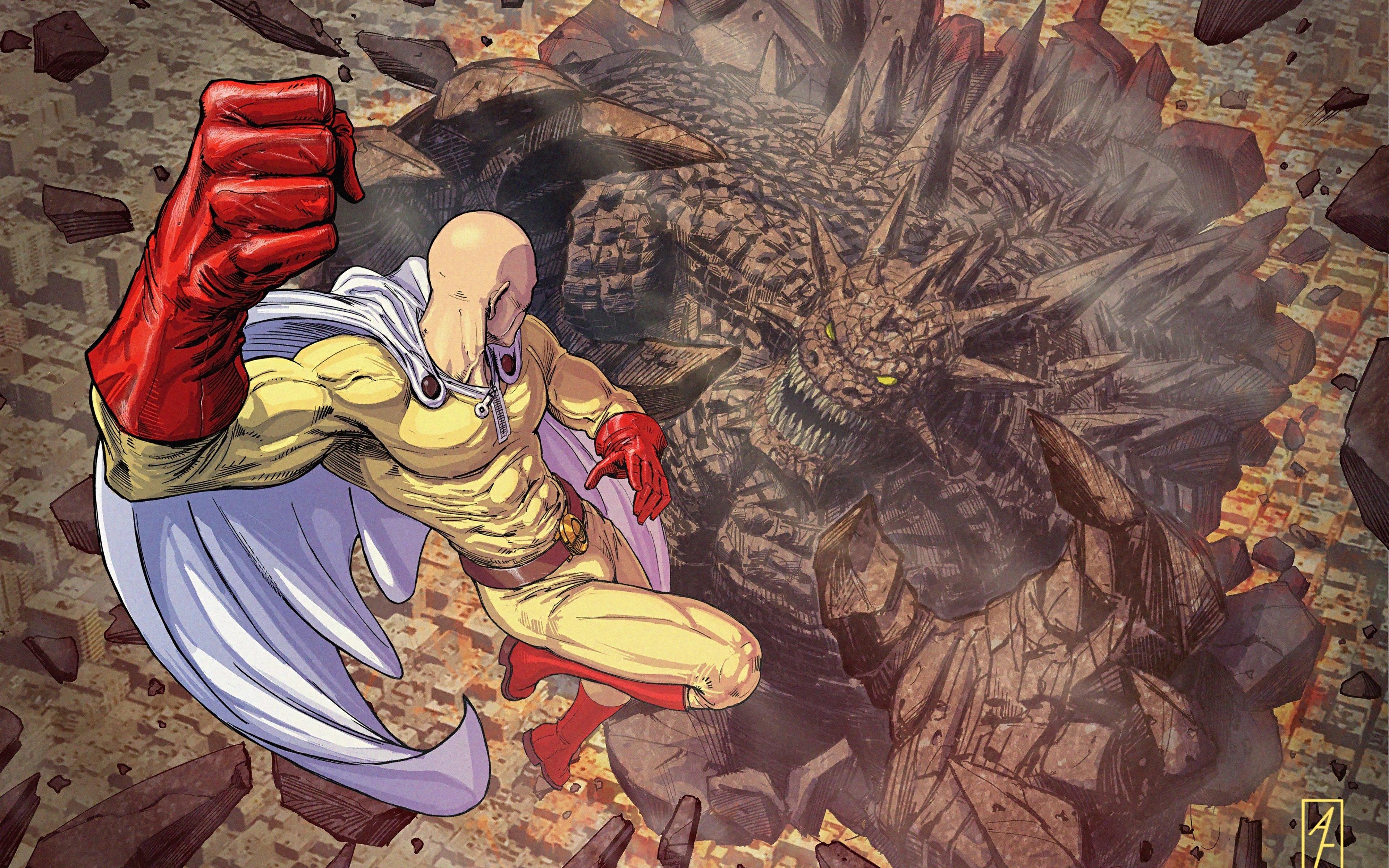 Fondos de pantalla Anime Saitama de One Punch man
