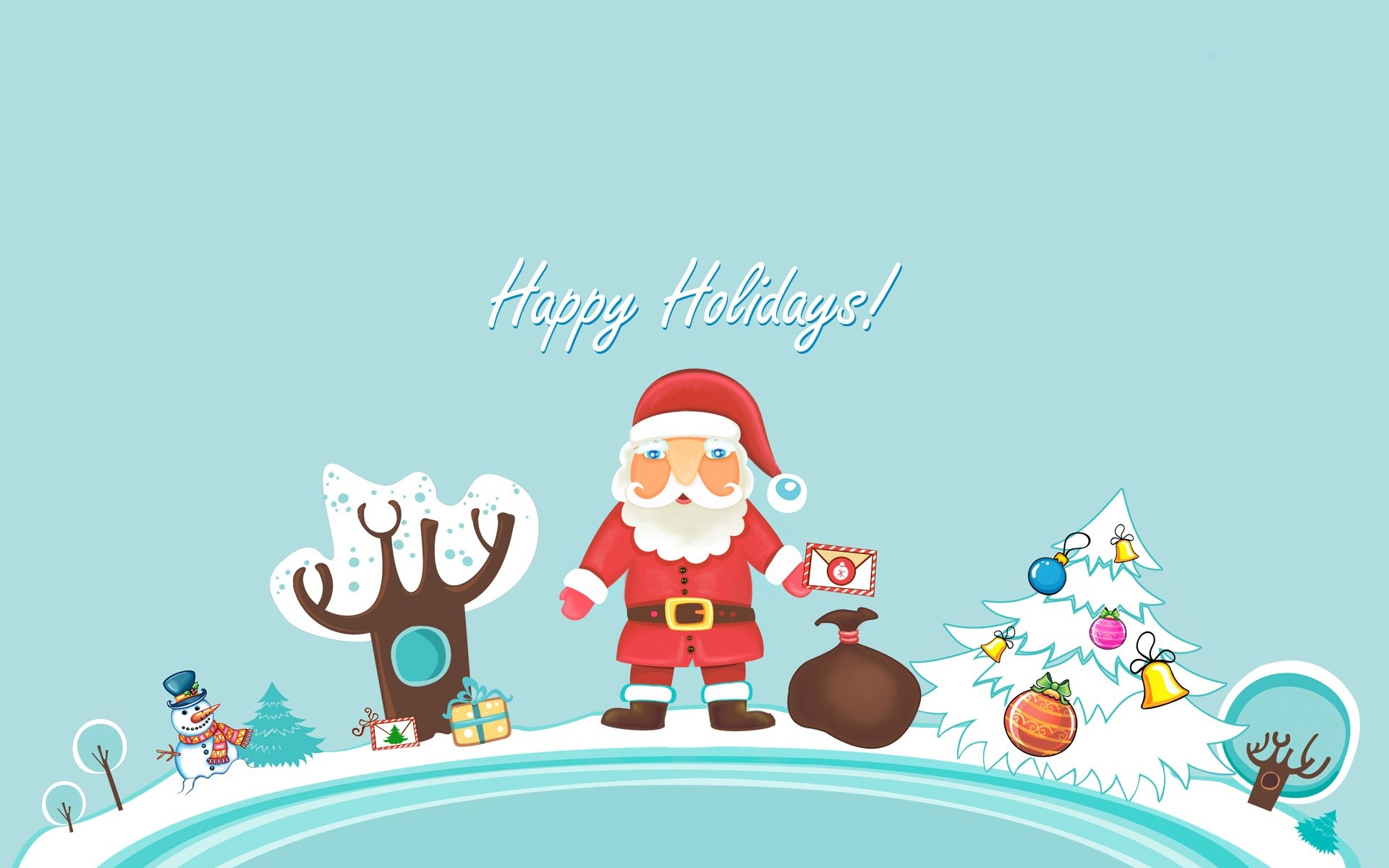 Wallpaper Santa Claus