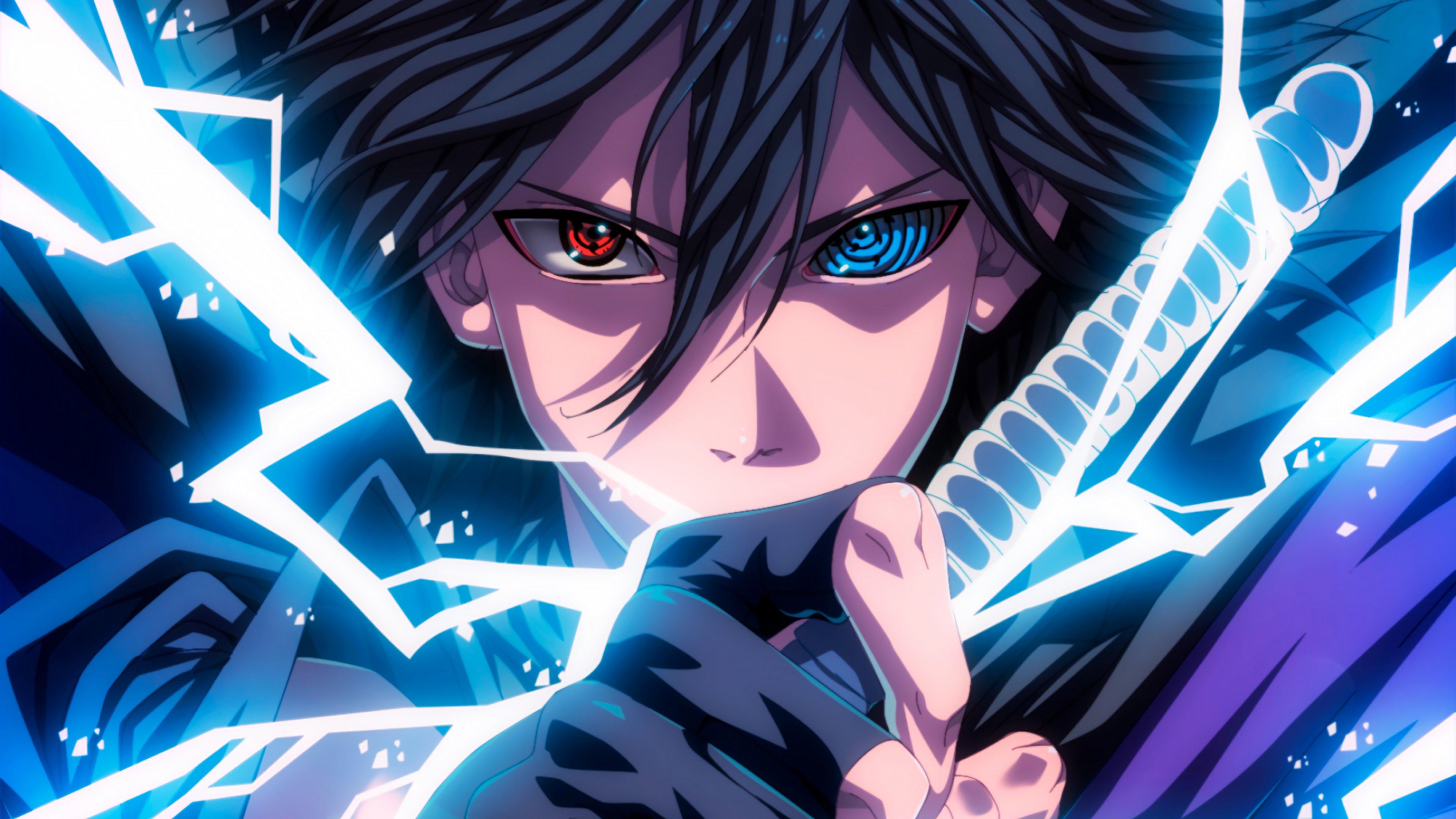 Sasuke Sharingan Rinnegan Eyes Lightning Anime Wallpaper 4k