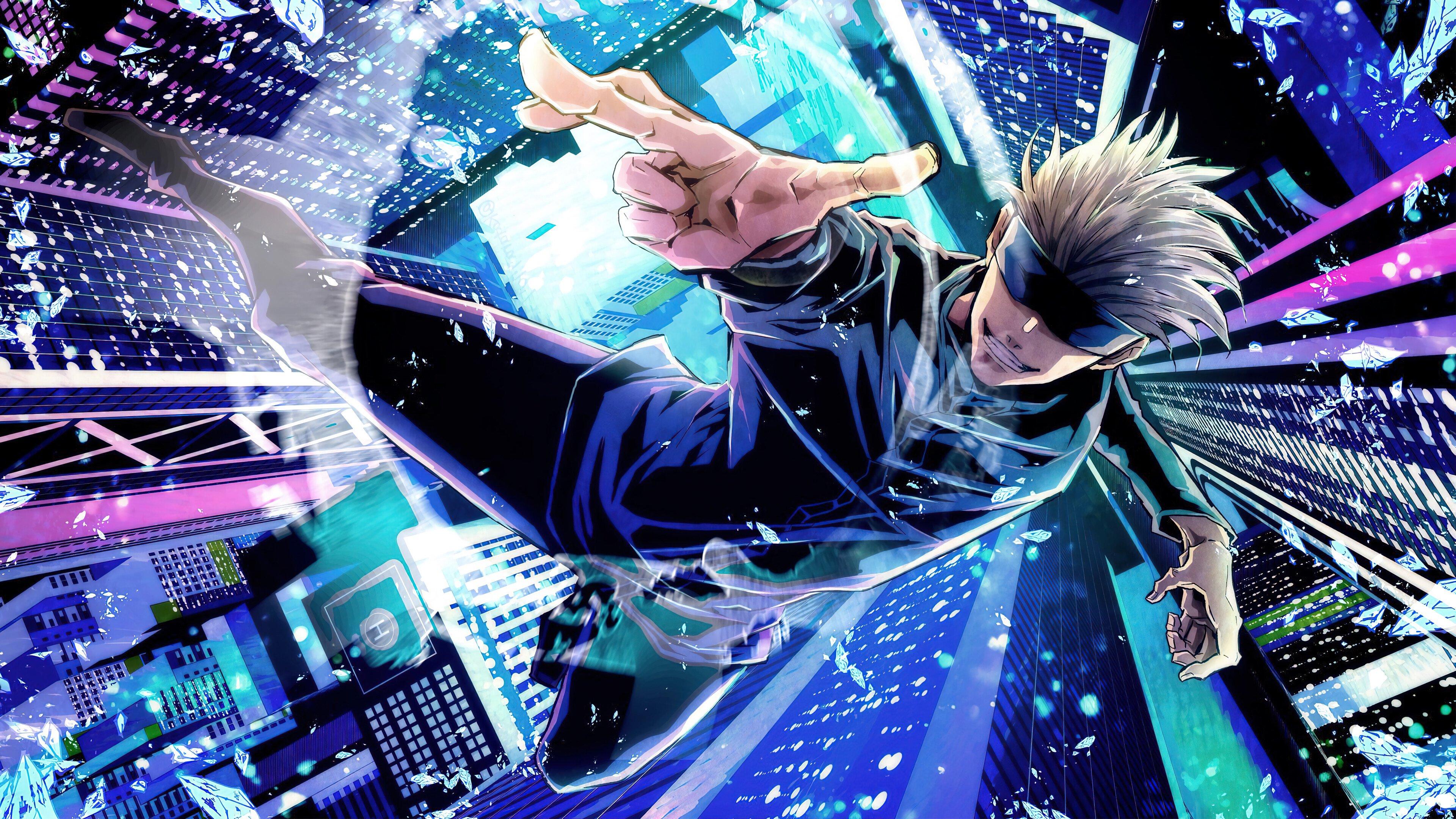 Anime Wallpaper Satoru Gojo from Jujutsu Kaisen