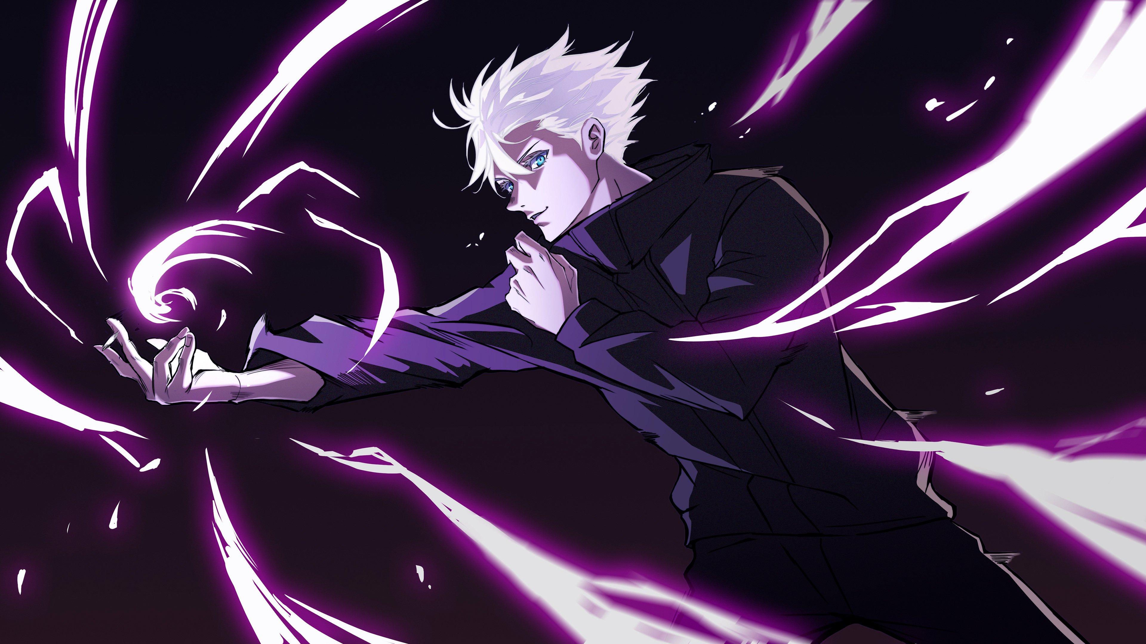 Anime Wallpaper Satoru Gojo Hollow Purple from Jujutsu Kaisen