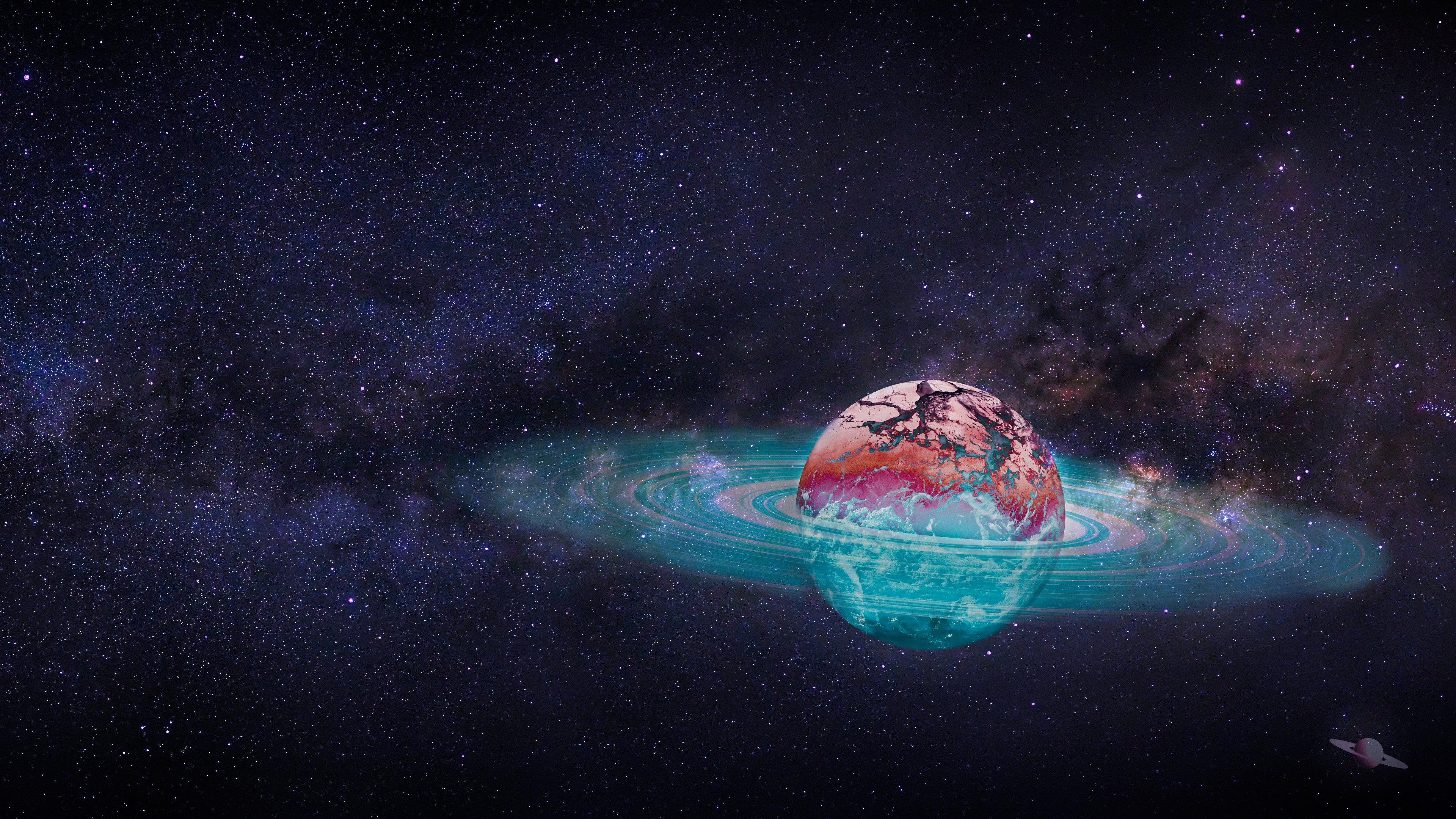 Fondos de pantalla Saturno Arte digital
