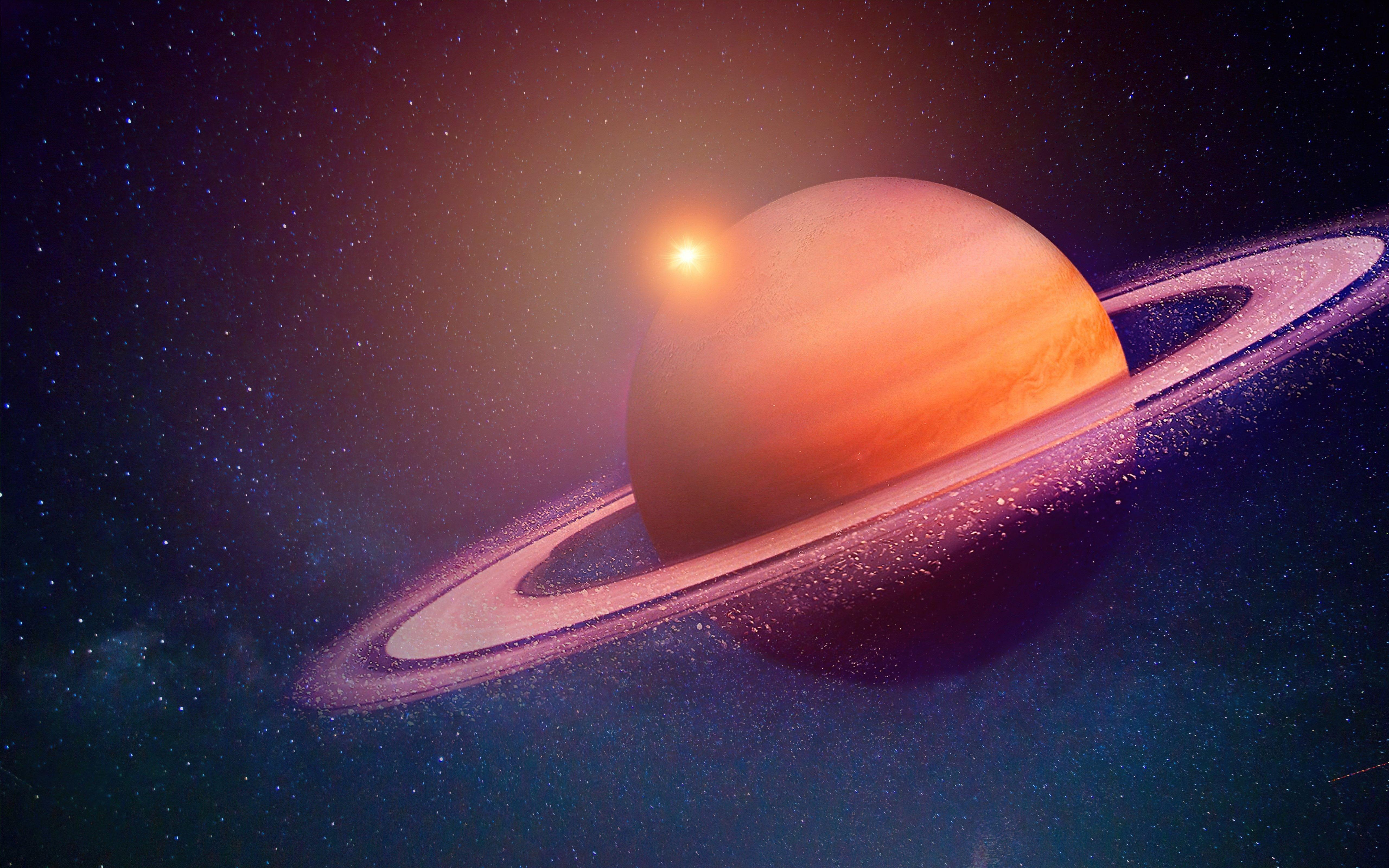 Fondos de pantalla Saturno en eclipse