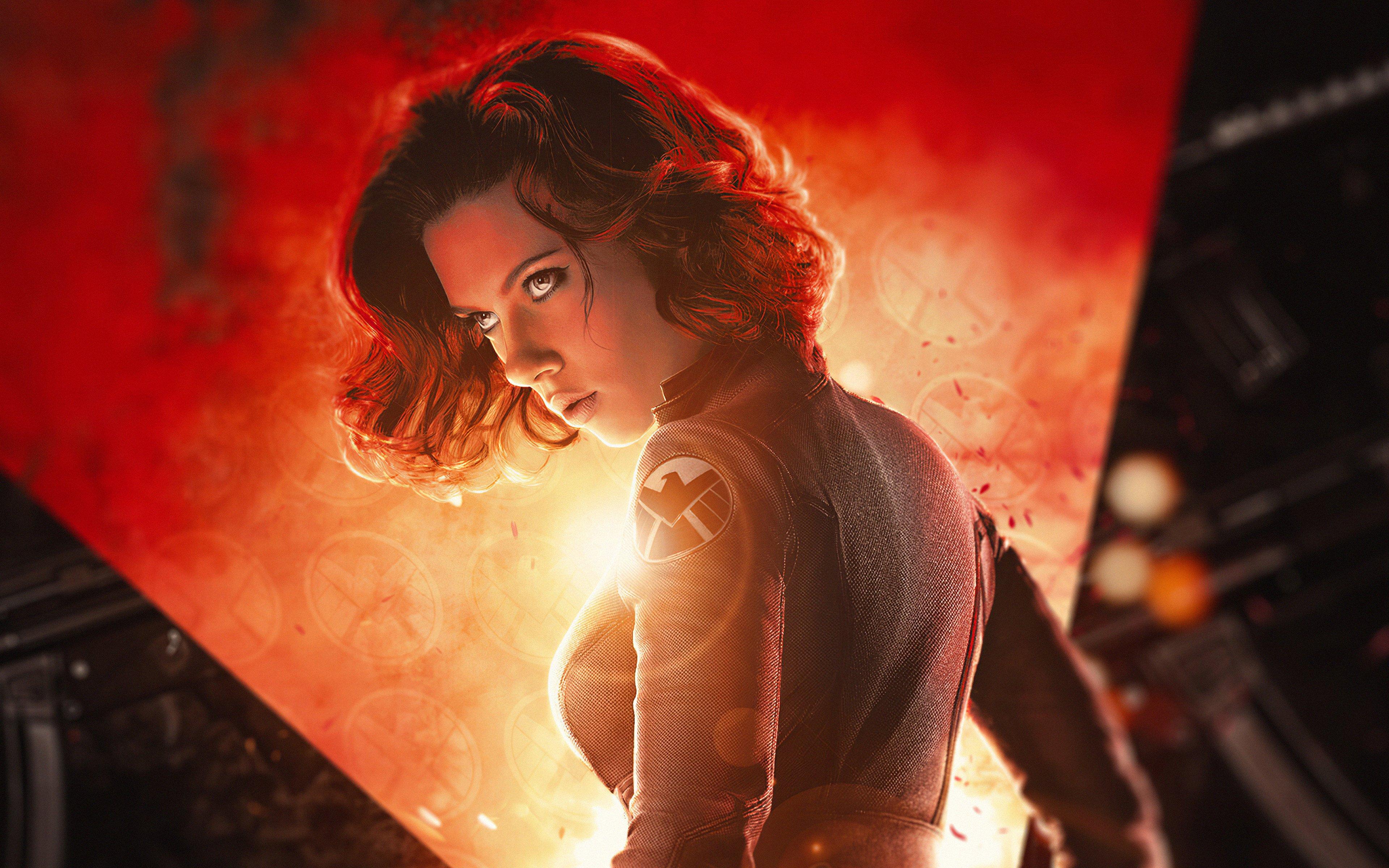 Fondos de pantalla Scarlett Johansson como personaje Viuda Negra