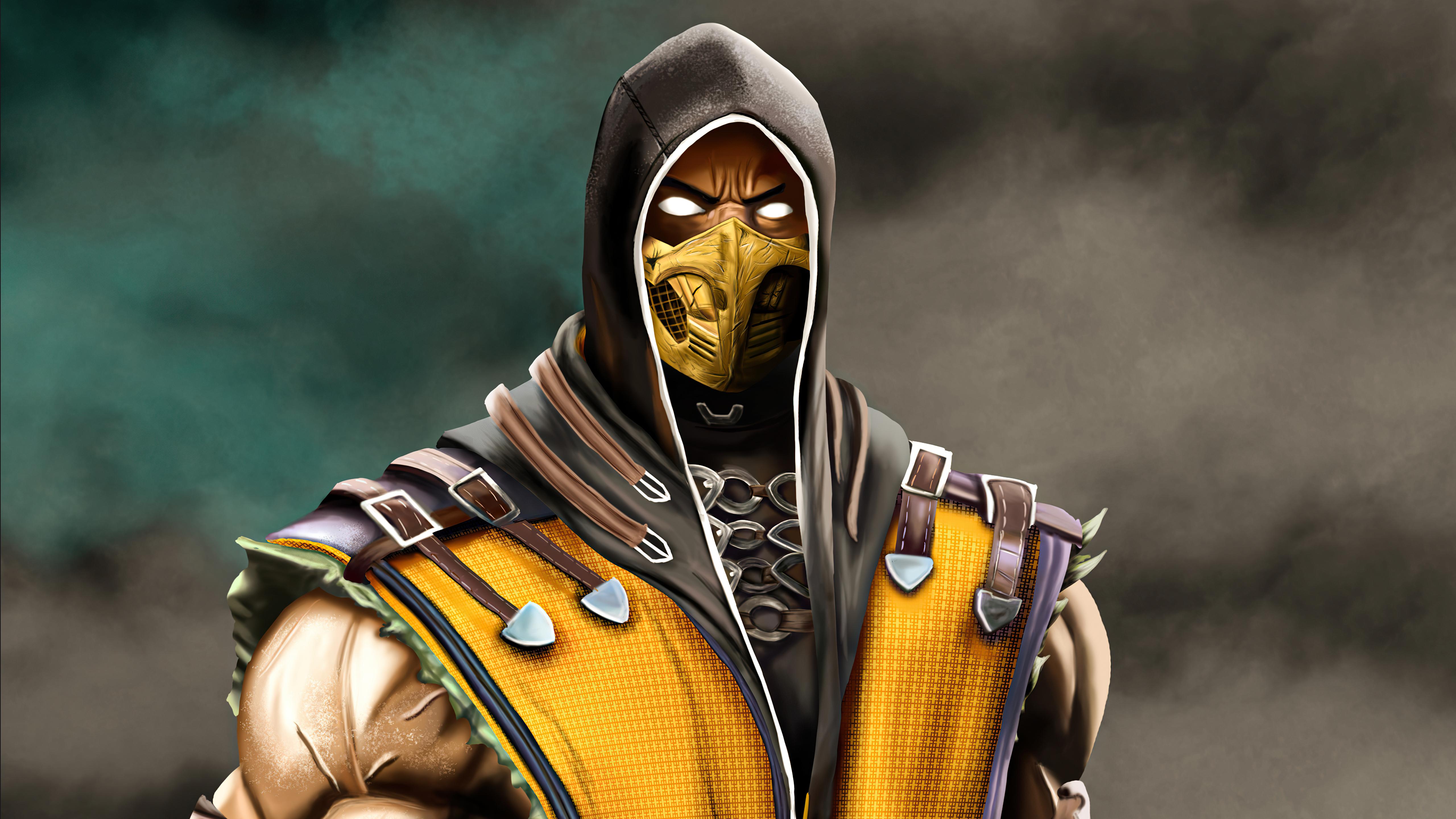 Wallpaper Scorpion from Mortal Kombat 2021