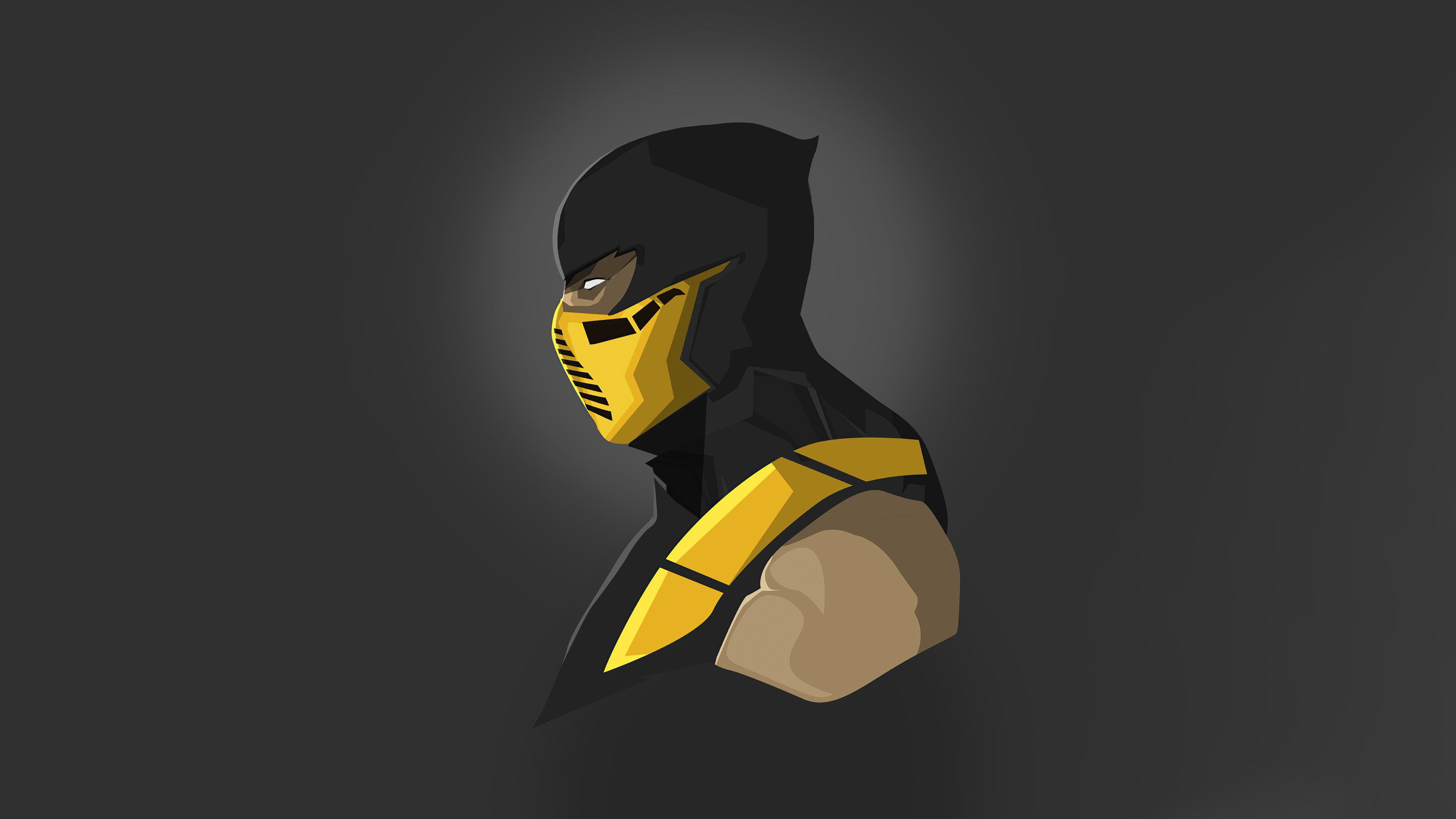 Fondos de pantalla Scorpion de Mortal Kombat Minimalista