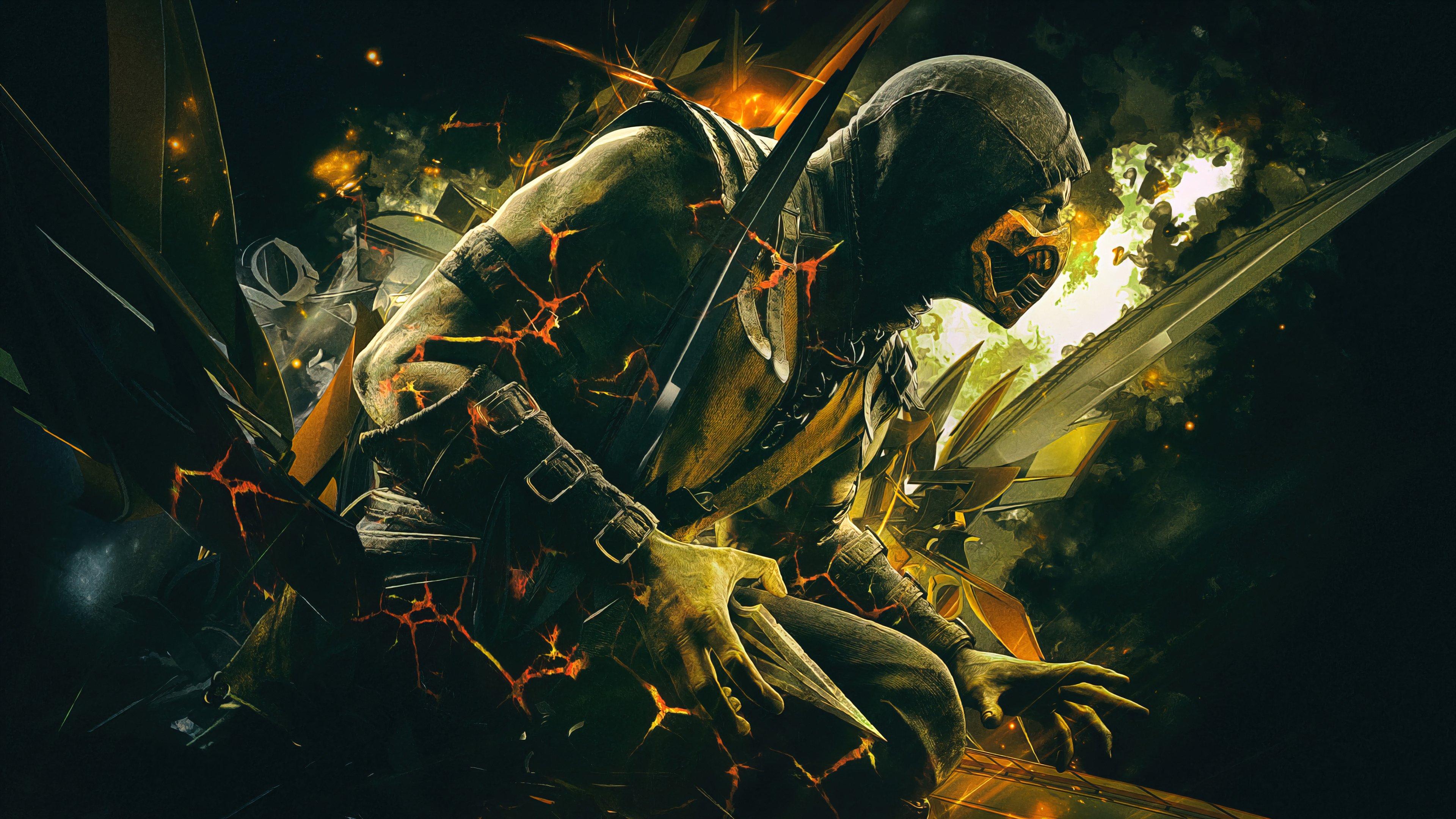 Wallpaper Scorpion Mortal Kombat X