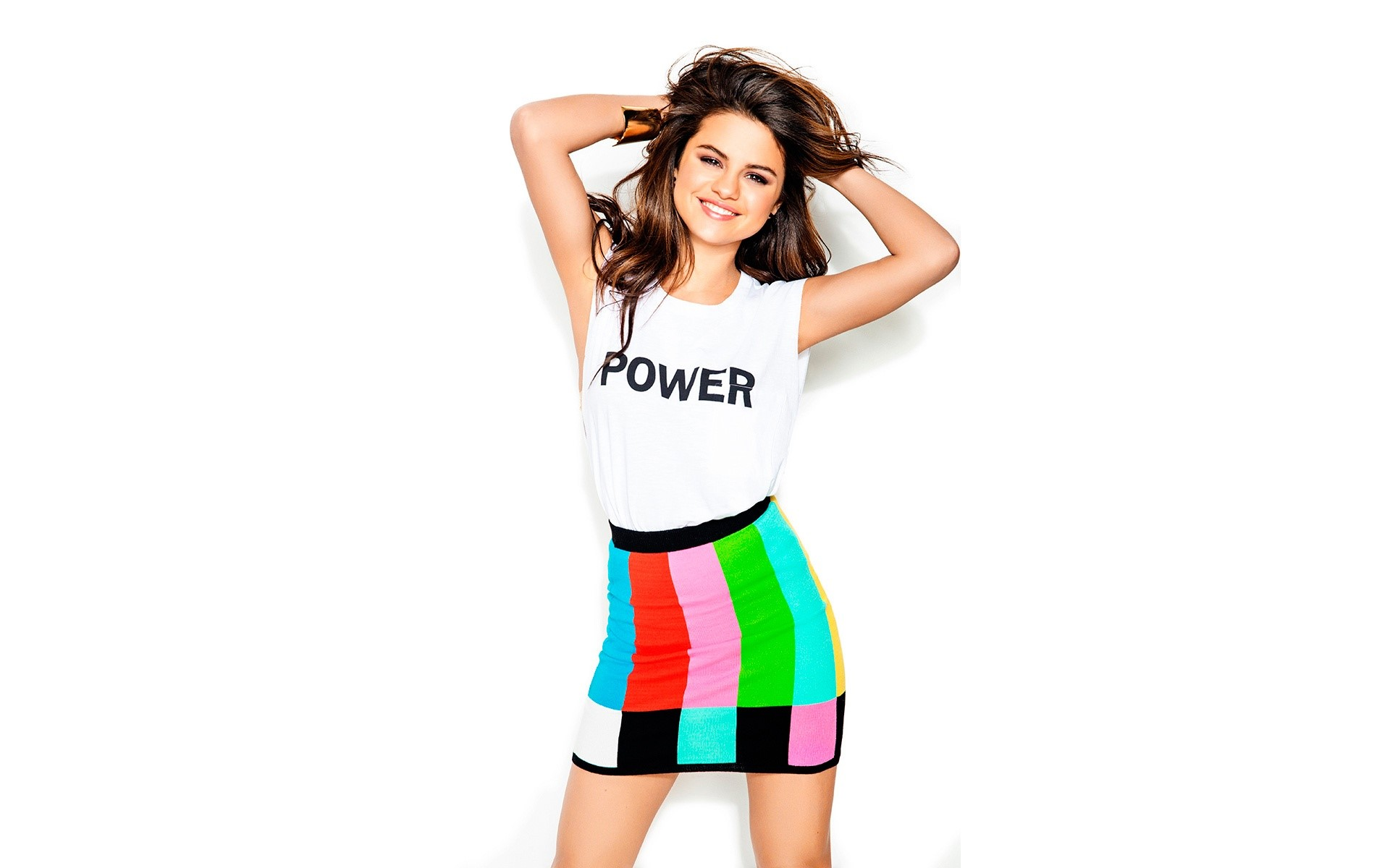 Wallpaper Selena Gomez for Seventeen 2014