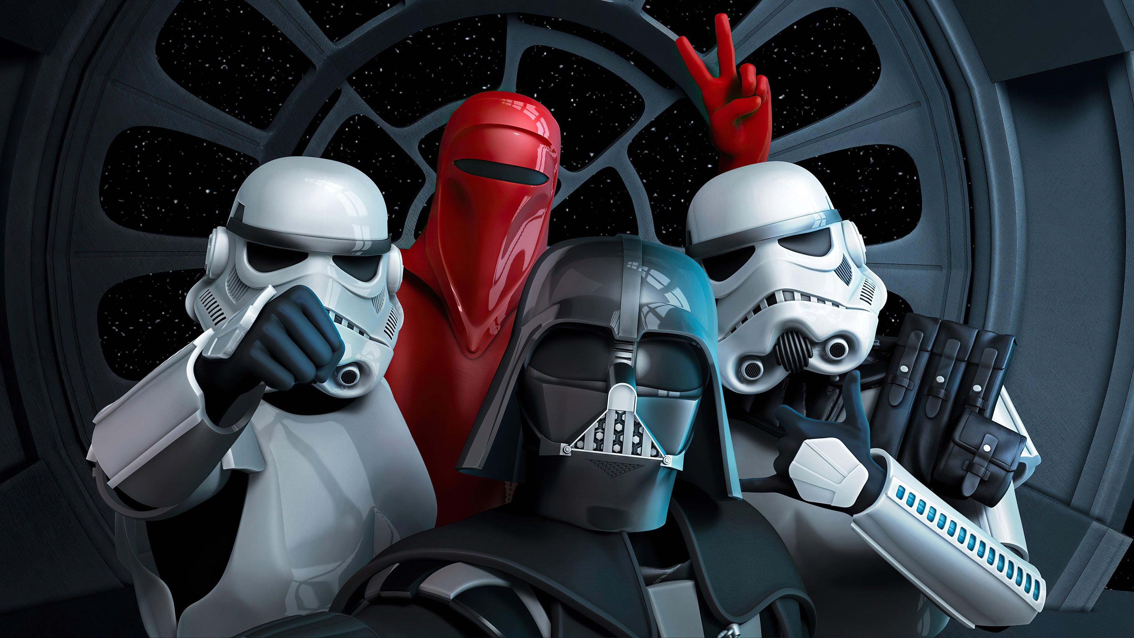 Fondos de pantalla Selfie de Star Wars Venganza de los cinco