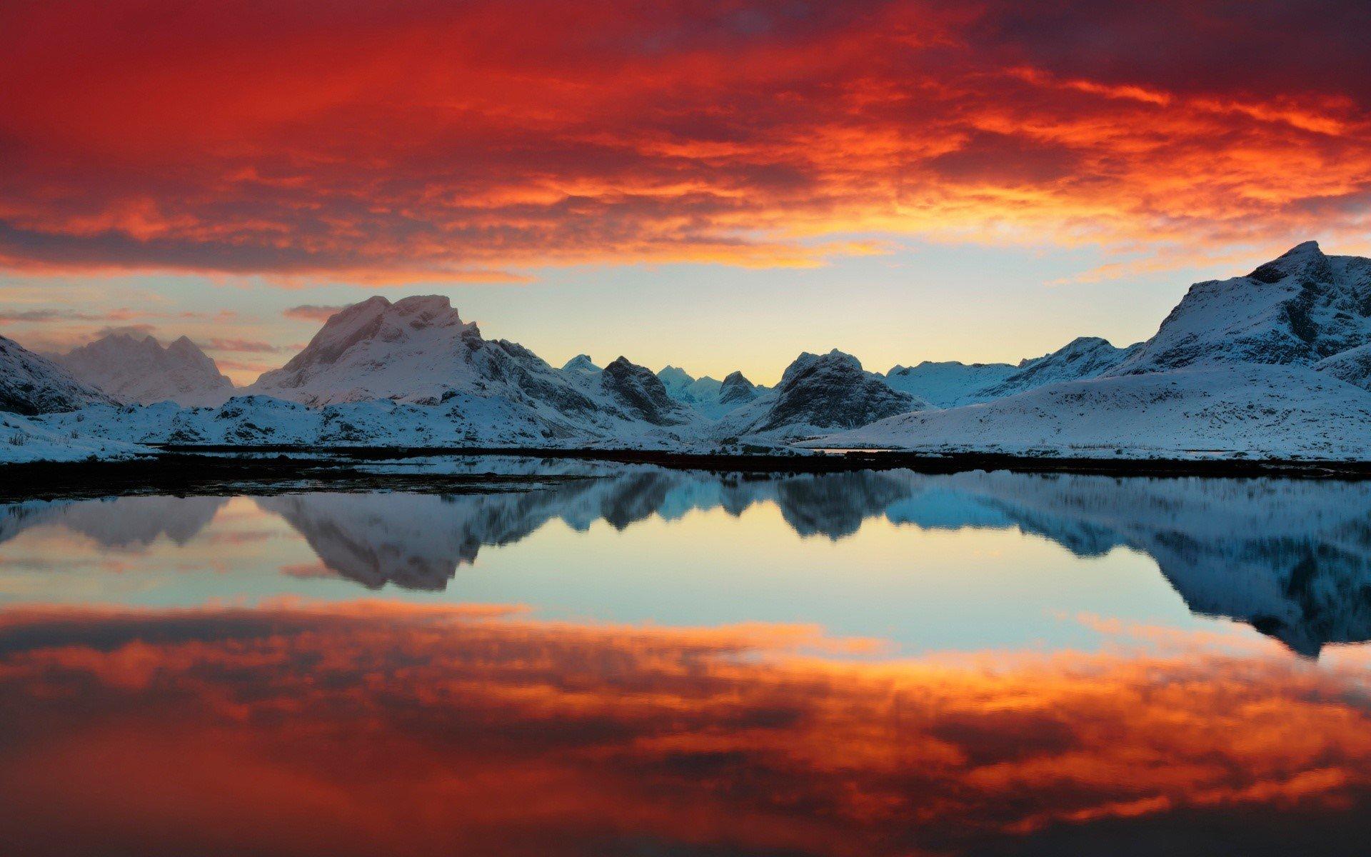 Wallpaper Selfjord reflections