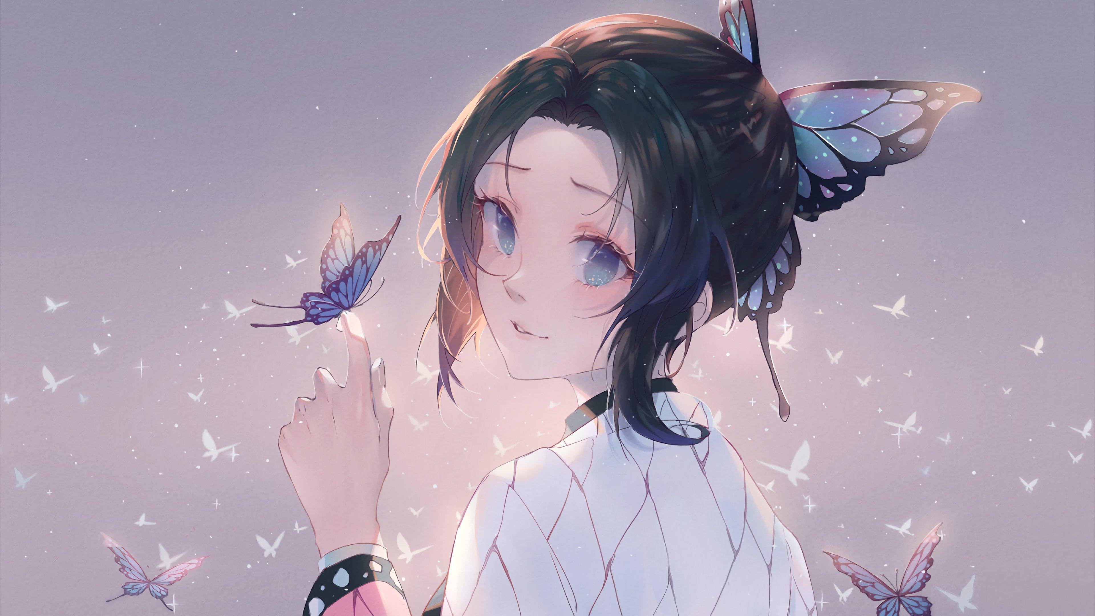 Shinobu Kocho from Kimetsu no Yaiba Anime Wallpaper 4k ...