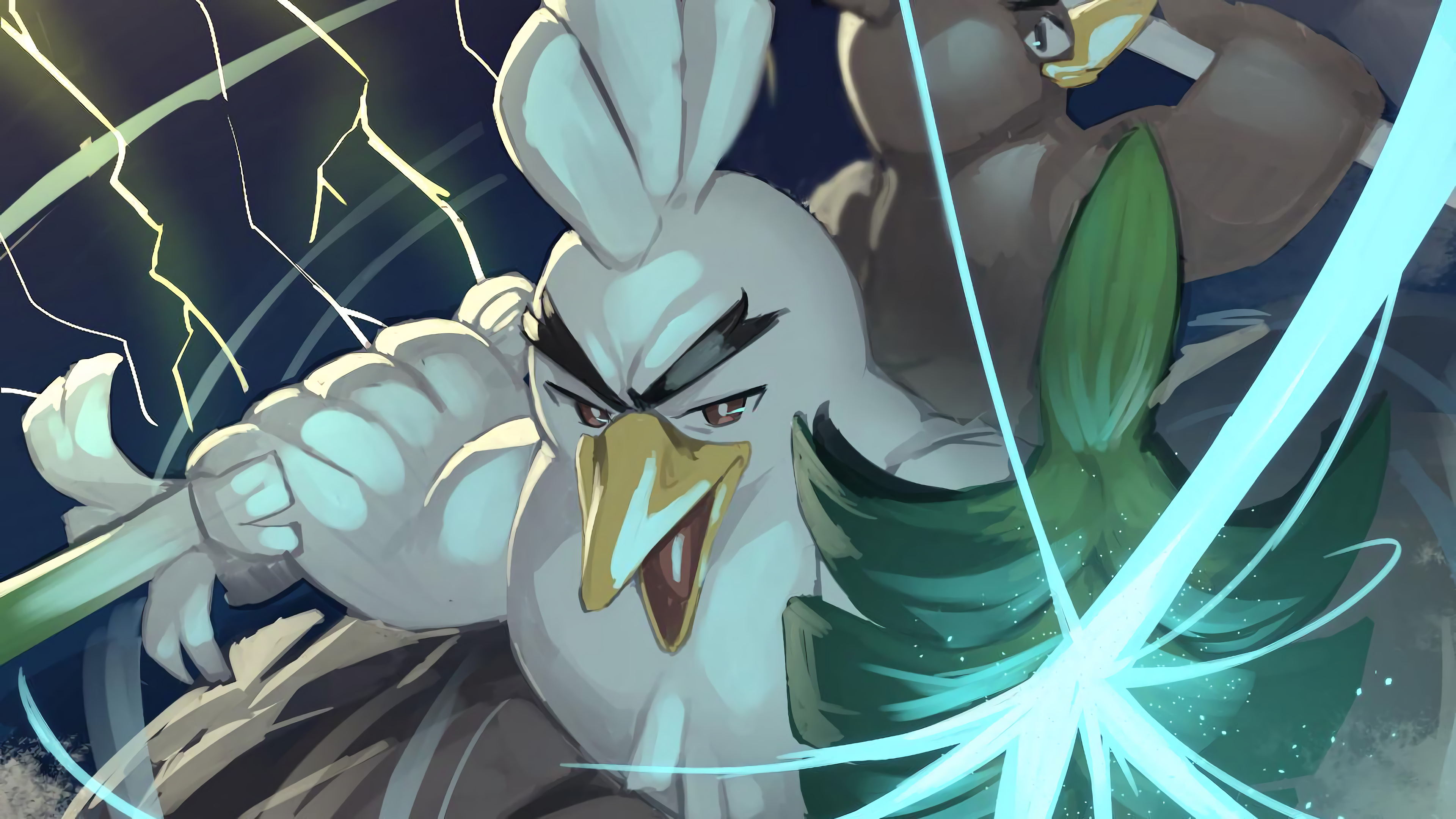 Anime Wallpaper Sirfetch'd from Pokemon Sword and Shield