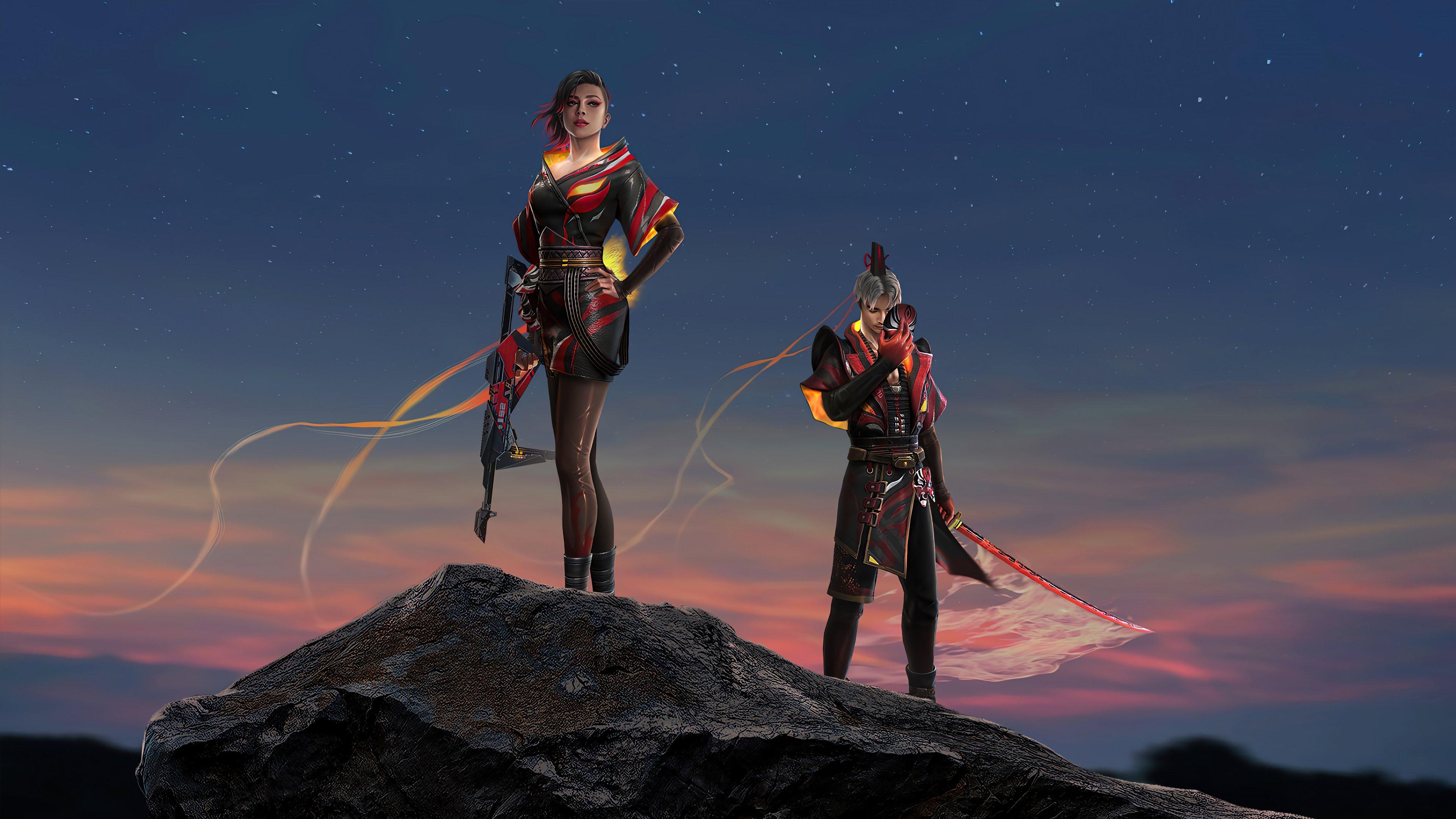 Fondos de pantalla Skins de personajes de Garena Free Fire