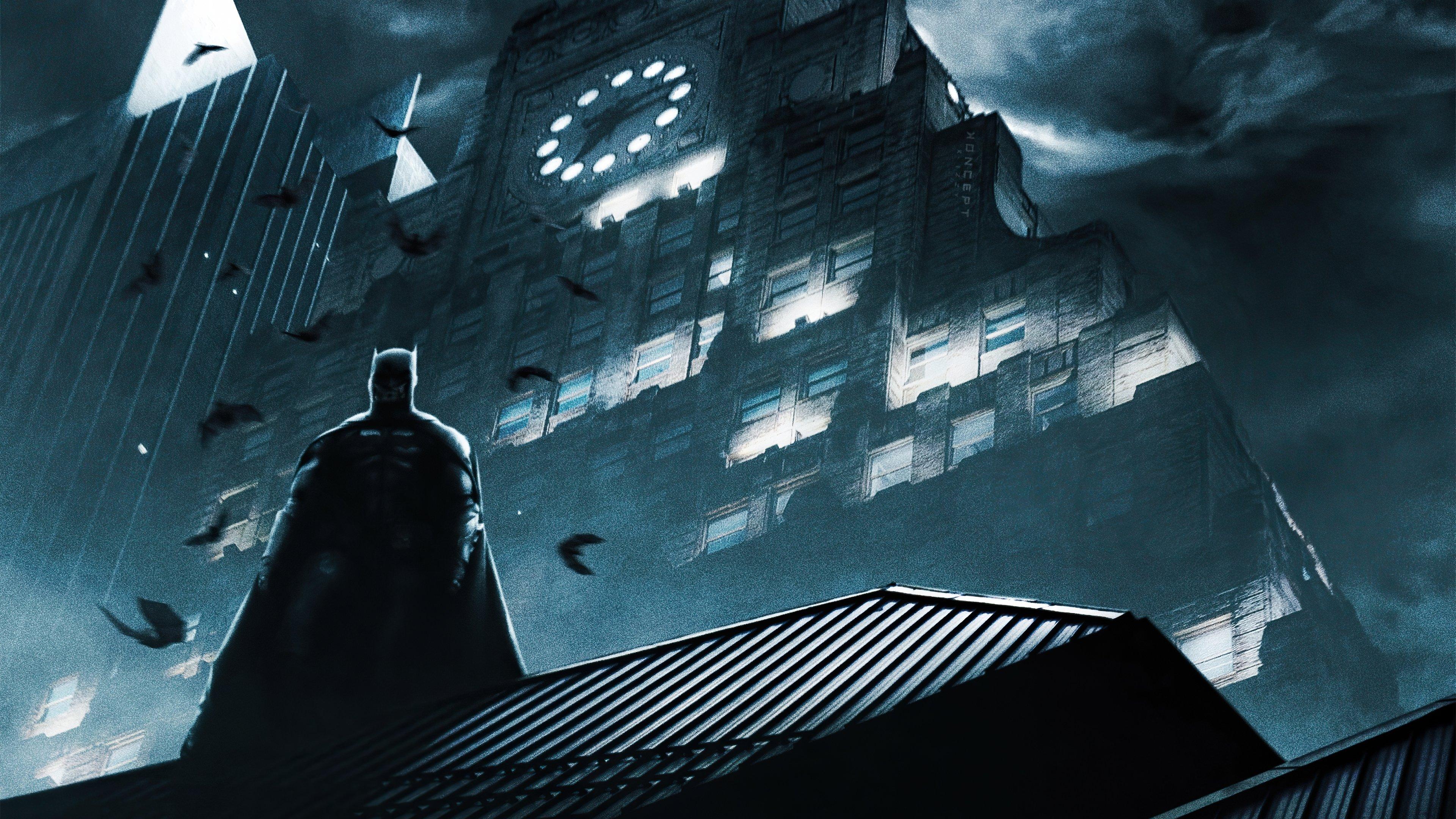 Fondos de pantalla Sombra de Batman en la lluvia