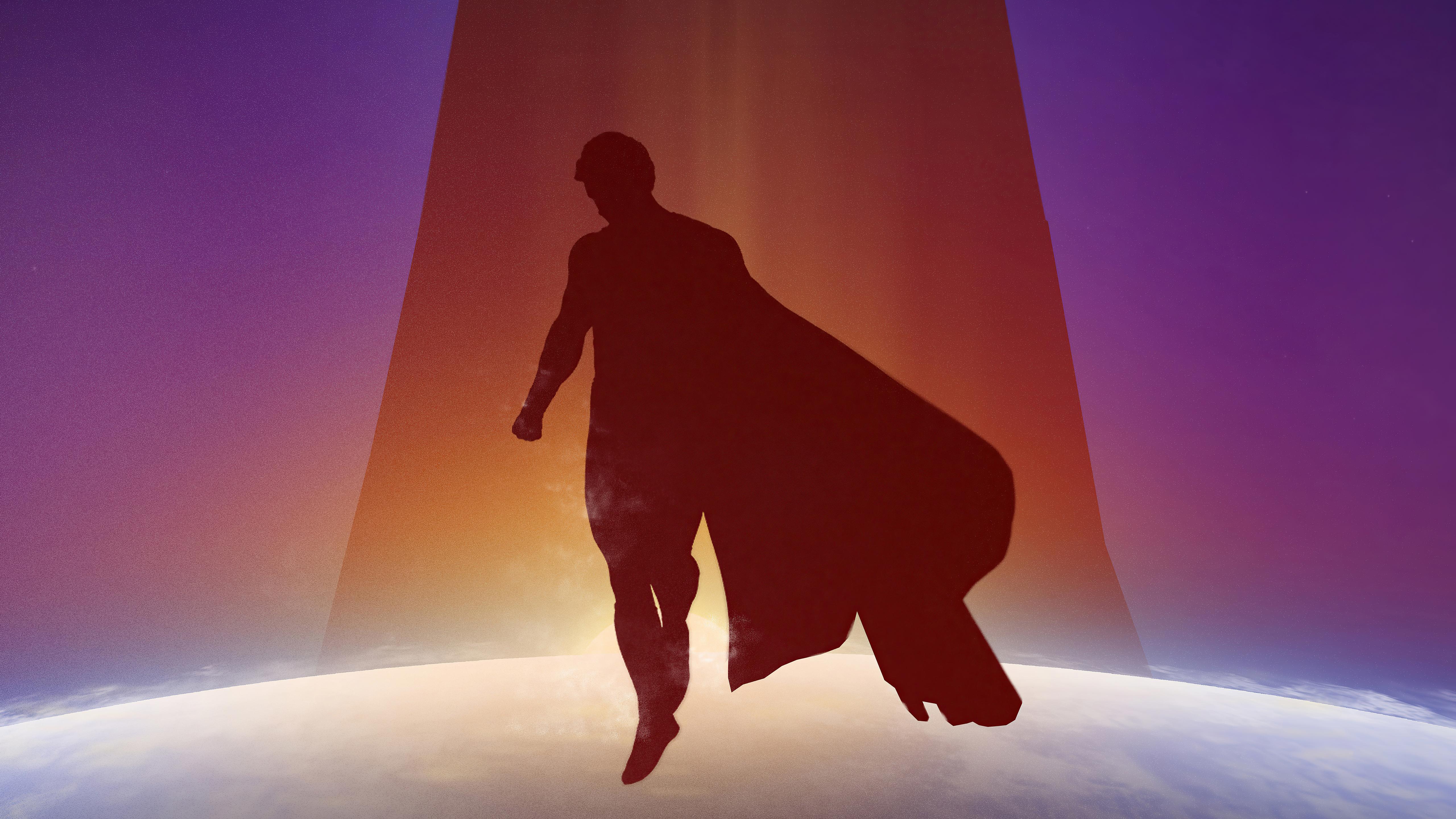 Fondos de pantalla Sombra de Superman diseño minimalista