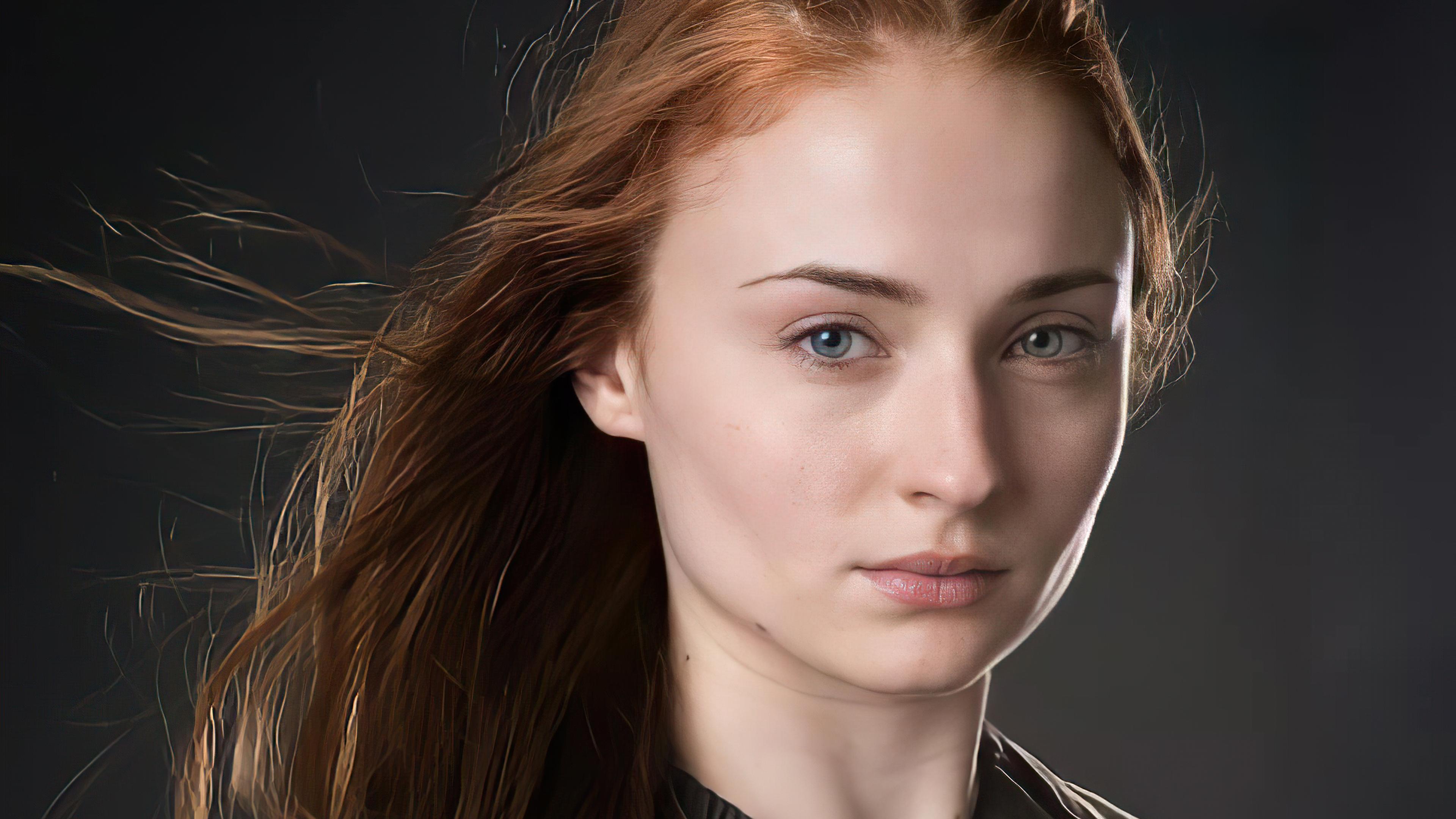 Wallpaper Sophie Turner as Sansa Stark