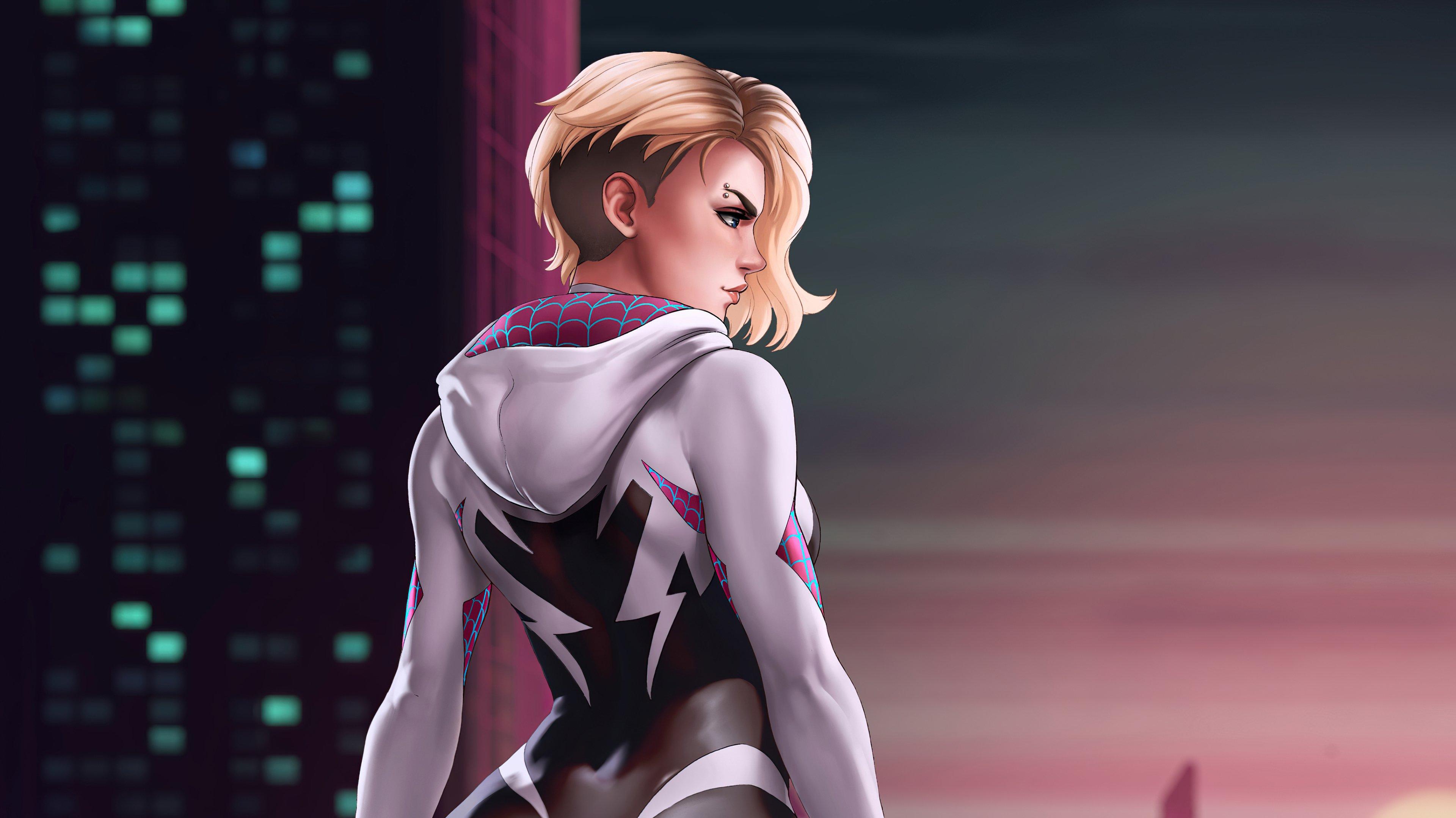 Wallpaper Spider Gwen Marvel Art
