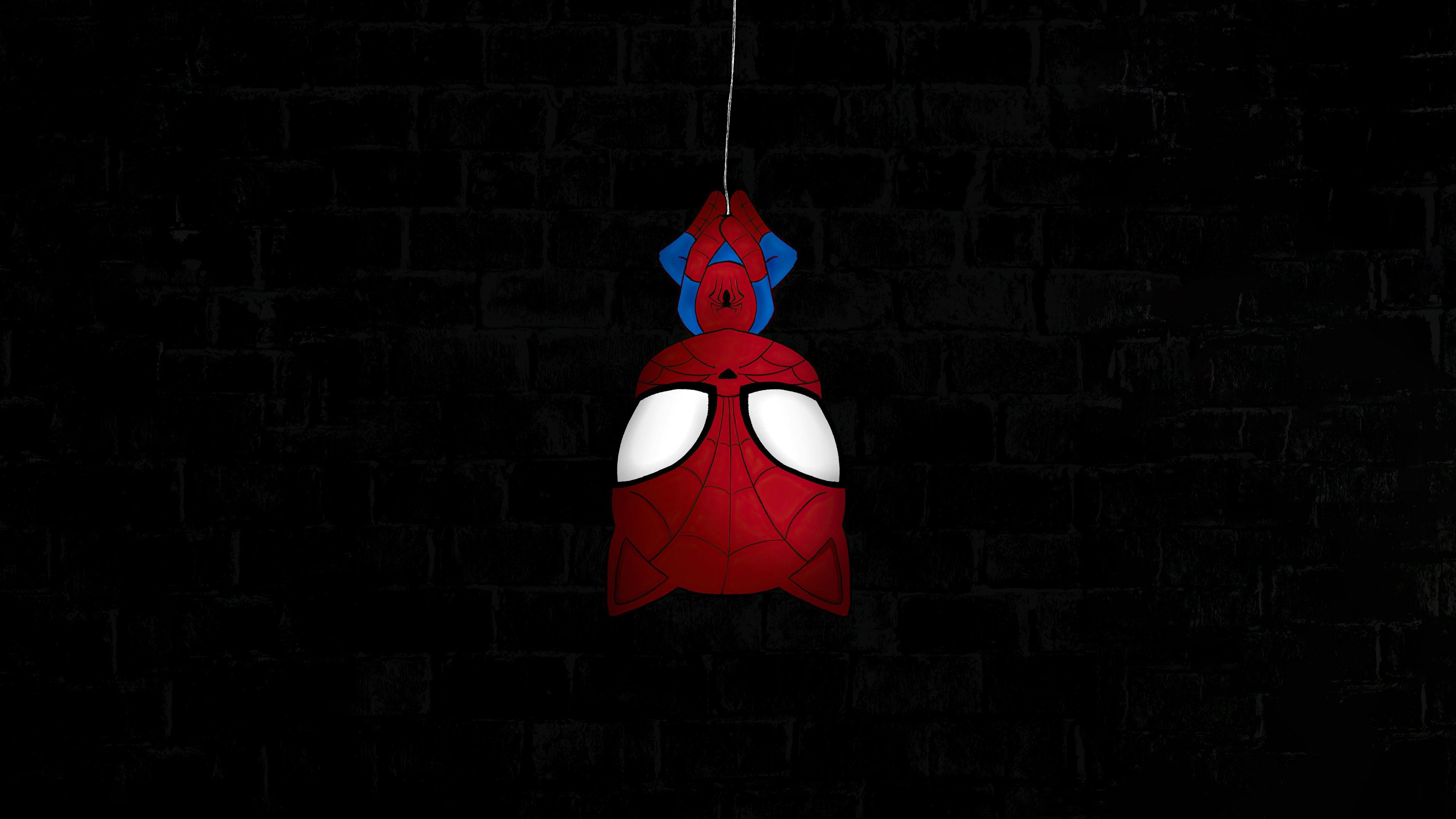 Wallpaper Spider Man Hanging