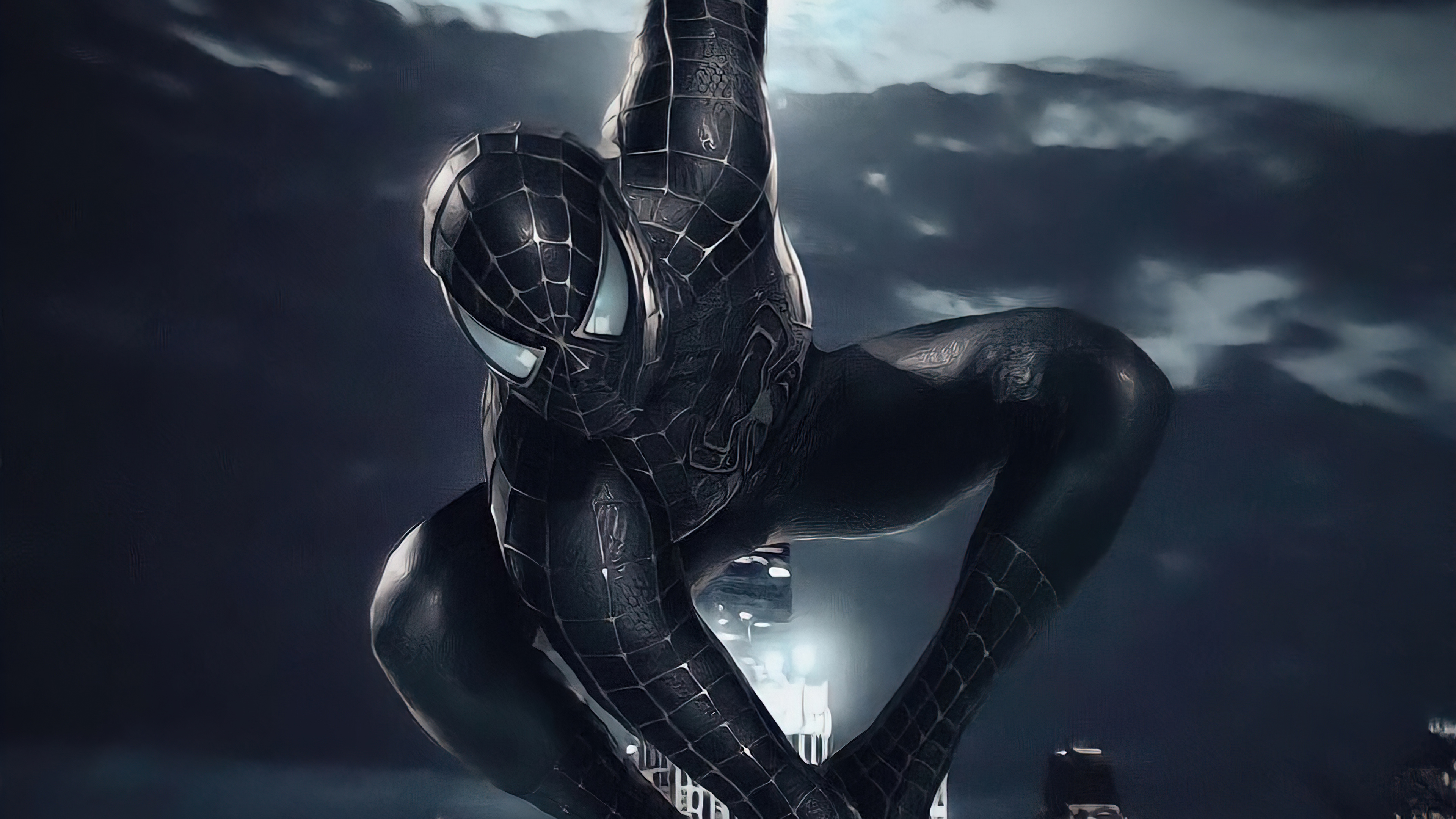 Fondos de pantalla Spider Man con traje negro