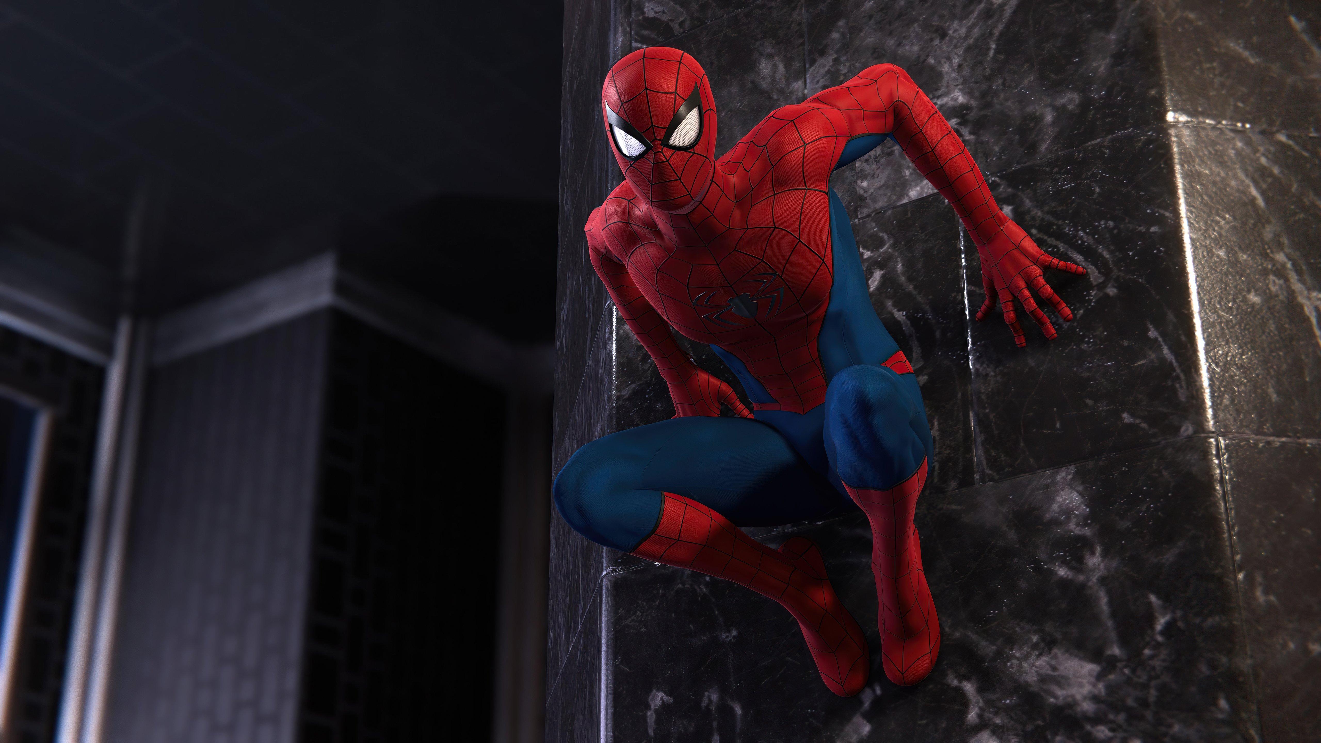 Wallpaper Spider Man on wall