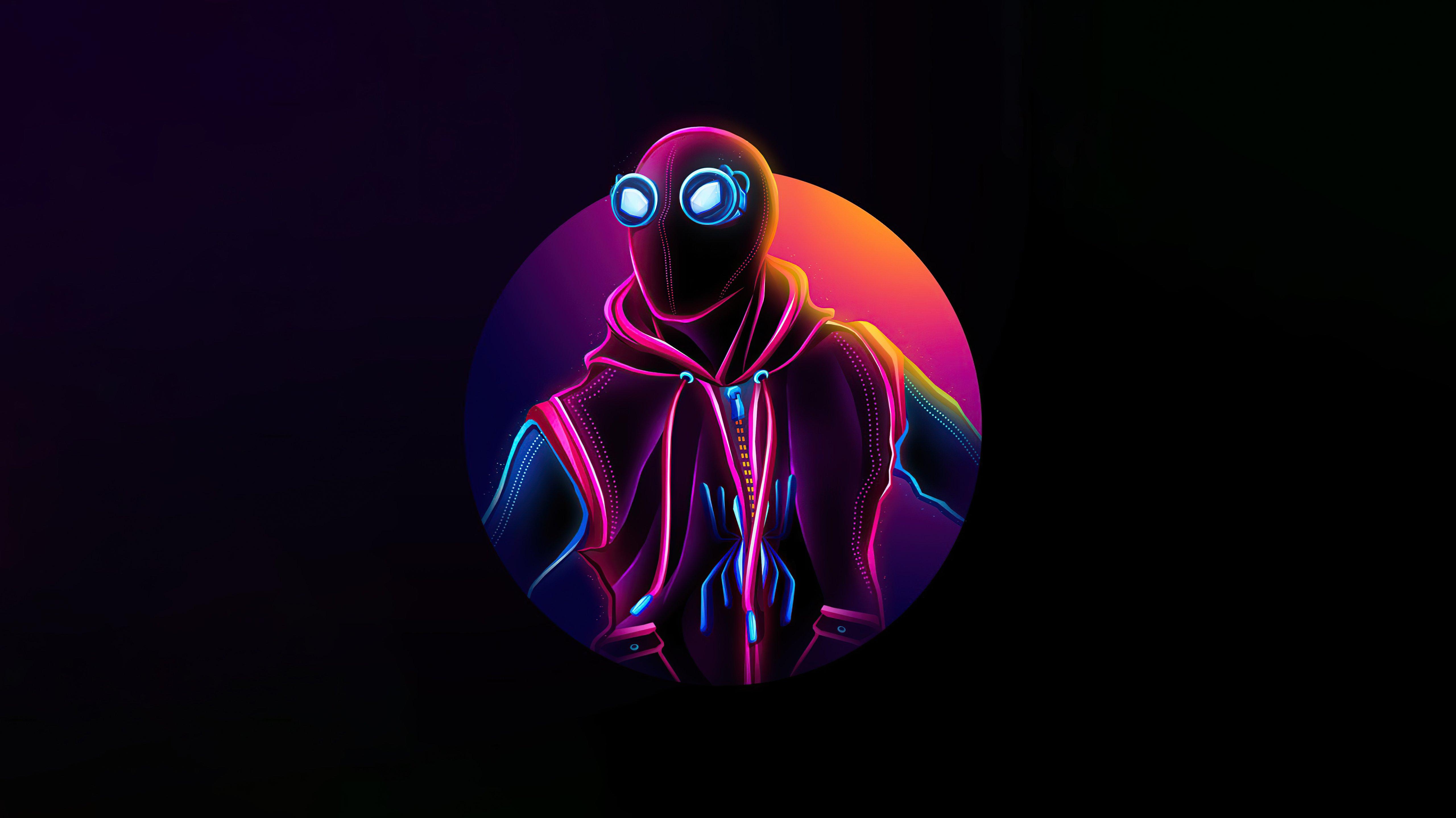 Wallpaper Spider Man Homemade suit Neon