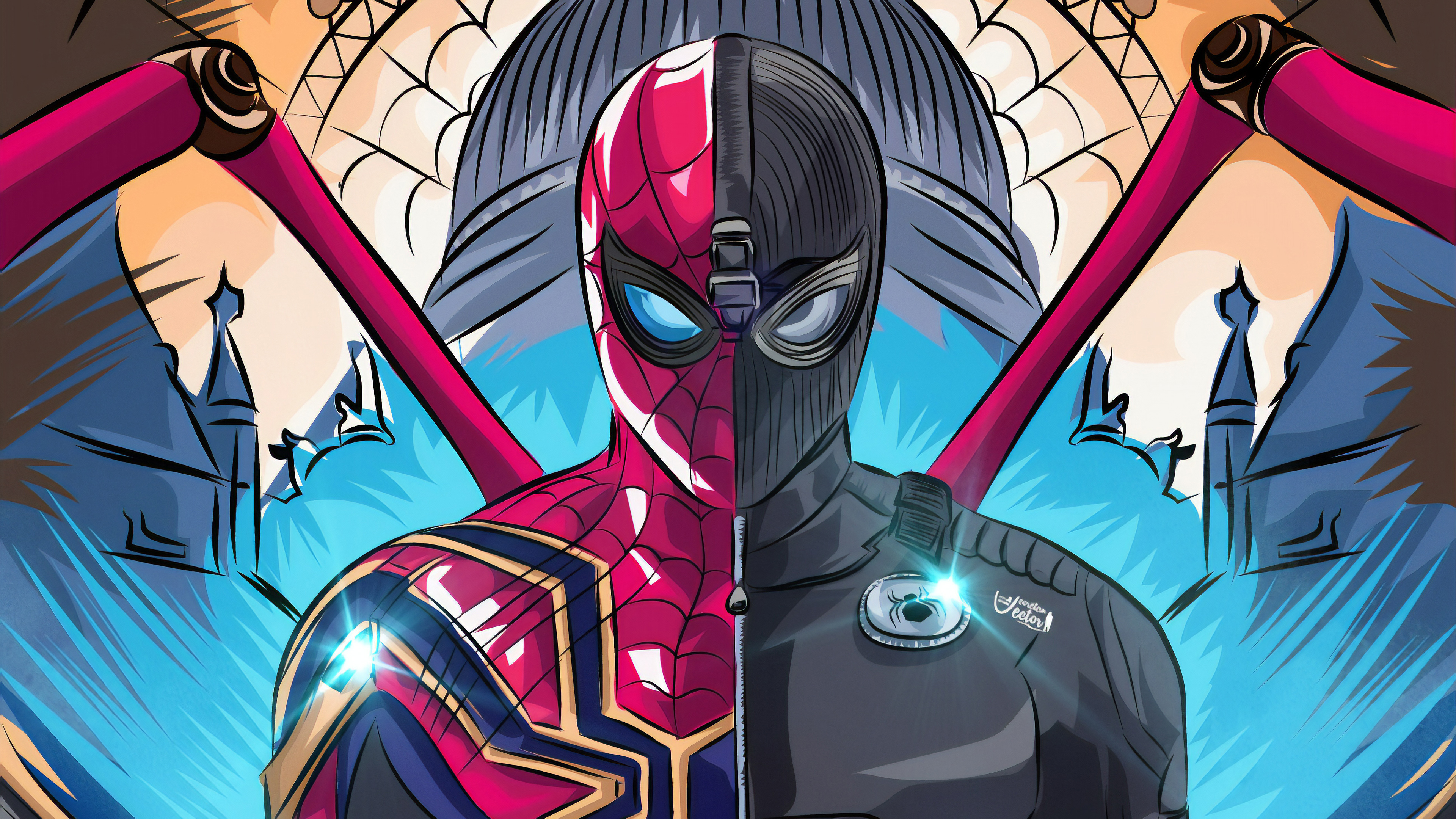 Wallpaper Spider Man Far From Home Fan Art