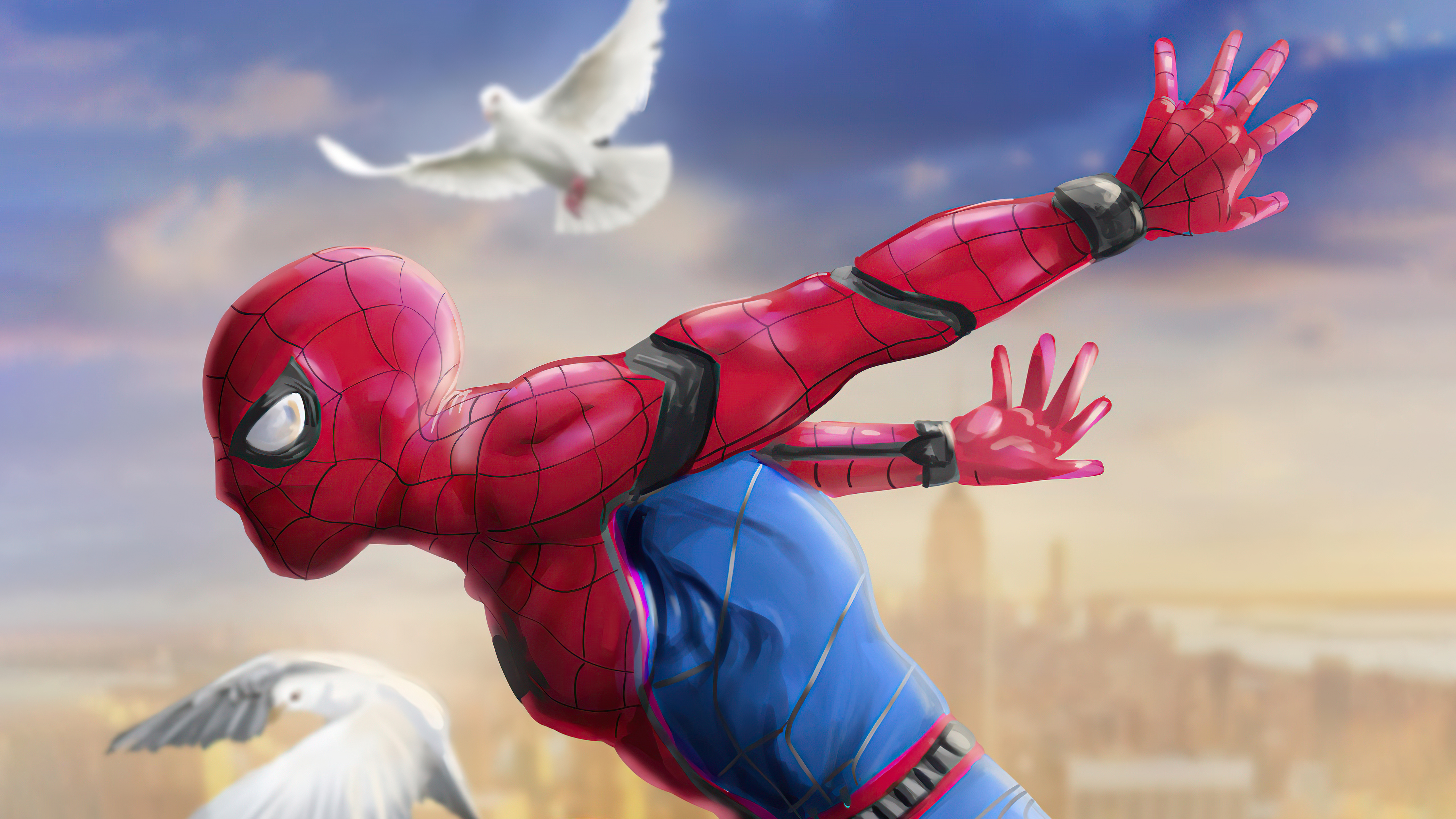 Wallpaper Spider Man ready for the day Fan Art