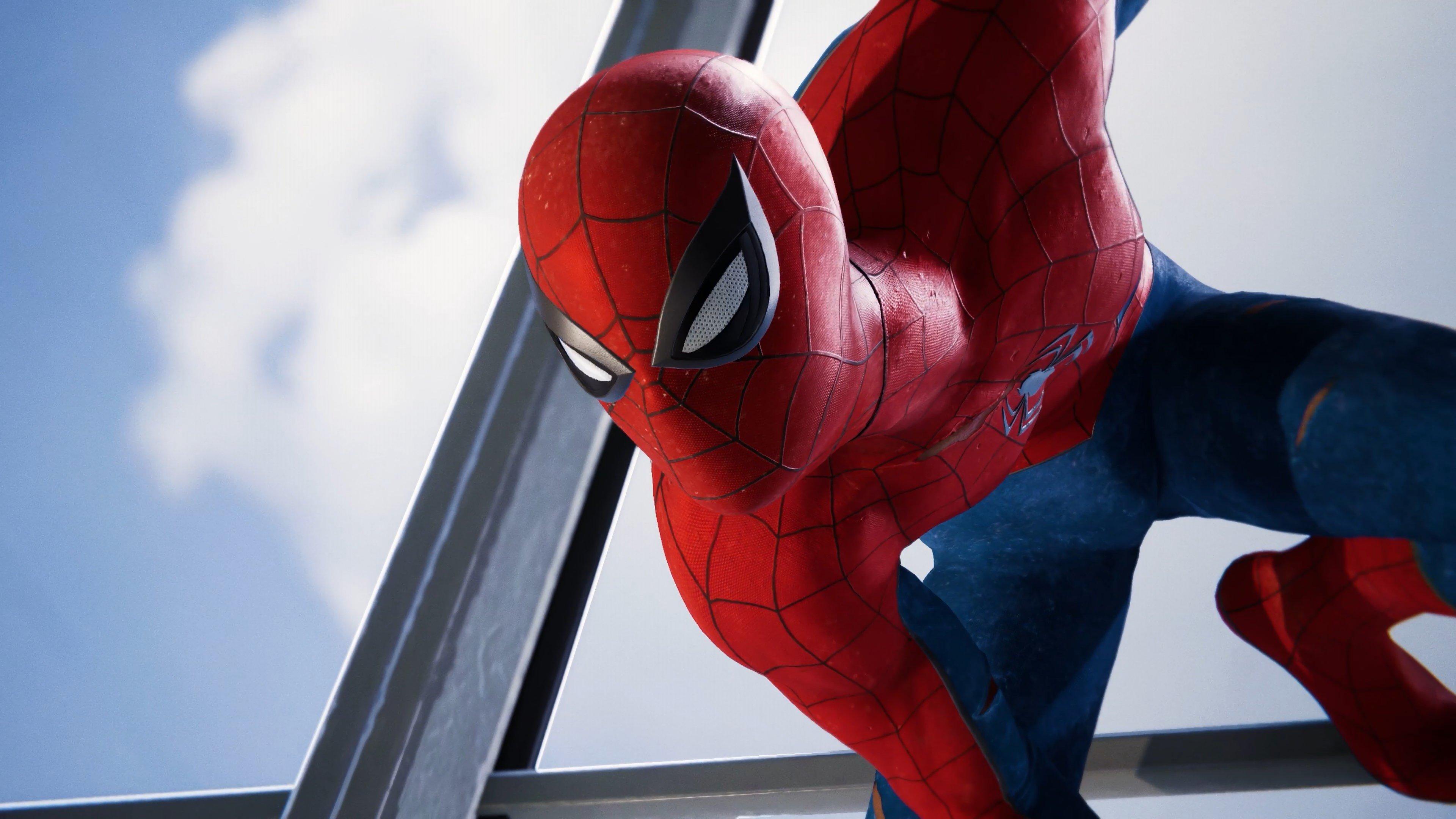 Fondo de pantalla de Spider-Man PS4 observando Imágenes