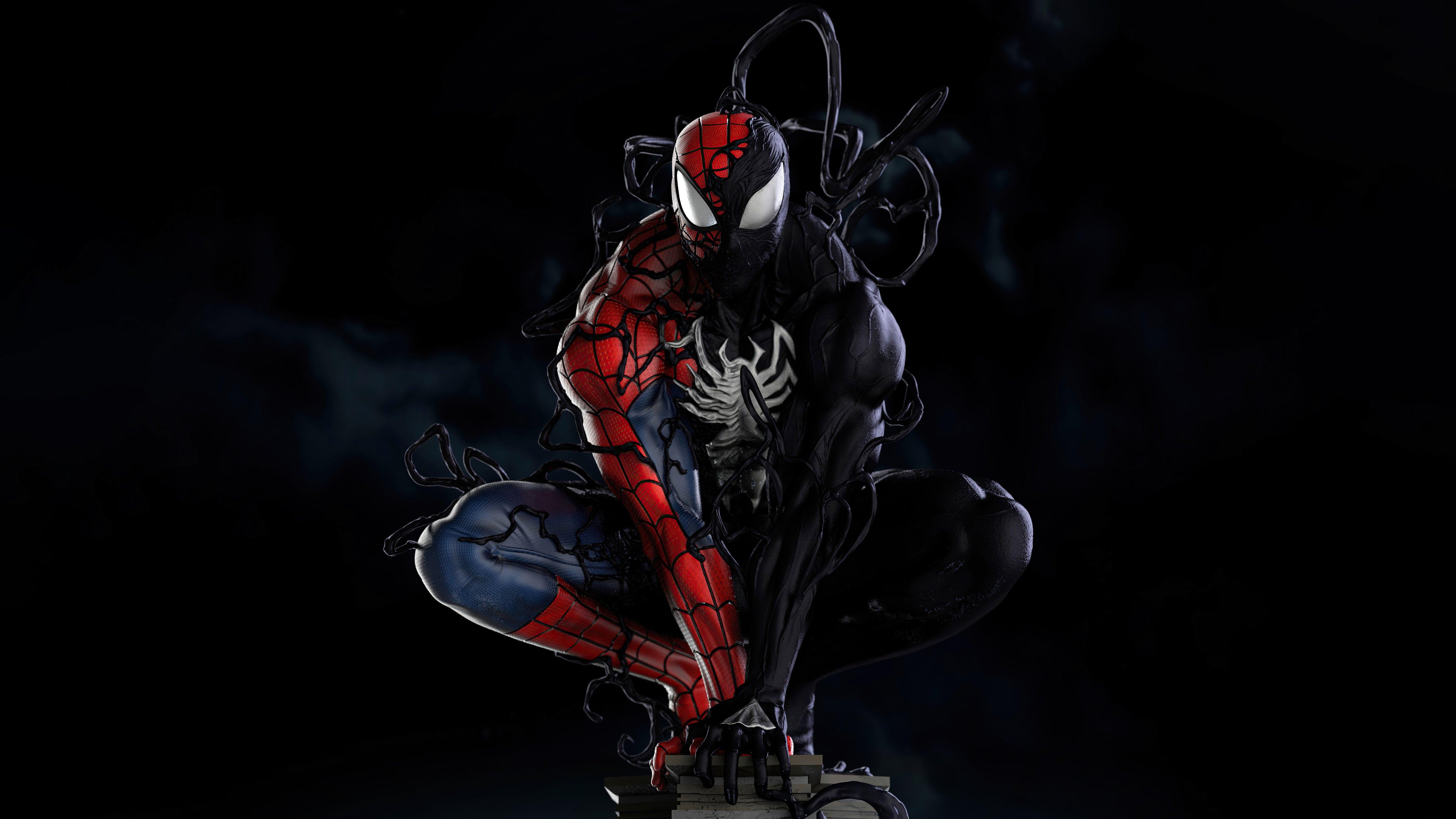 Fondos de pantalla Spider Man Symbiote Transformación