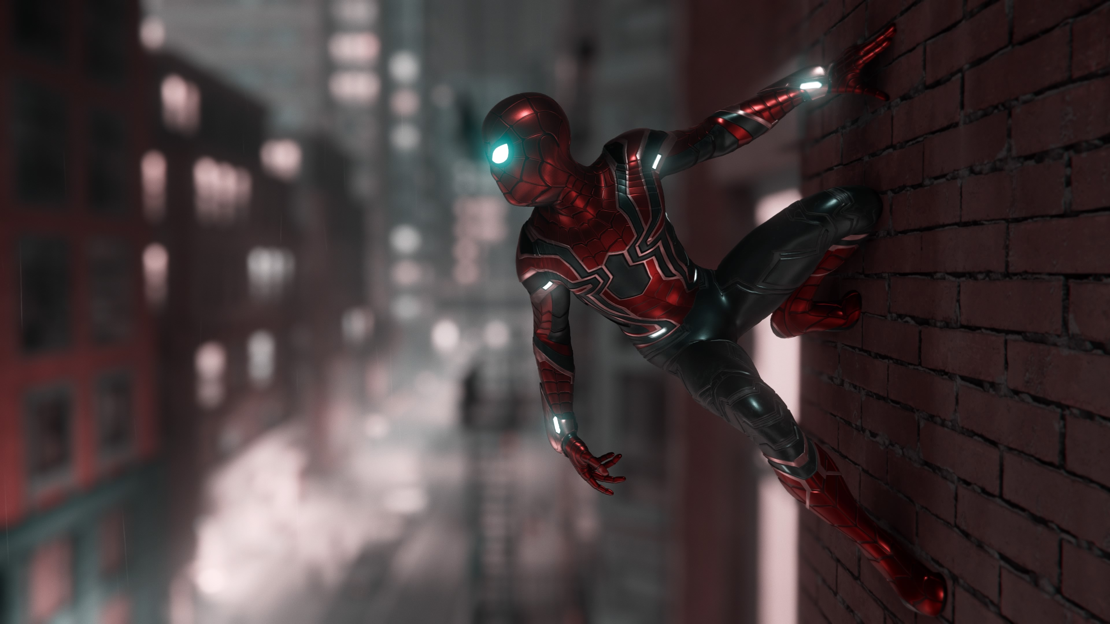 Wallpaper Spiderman in the city