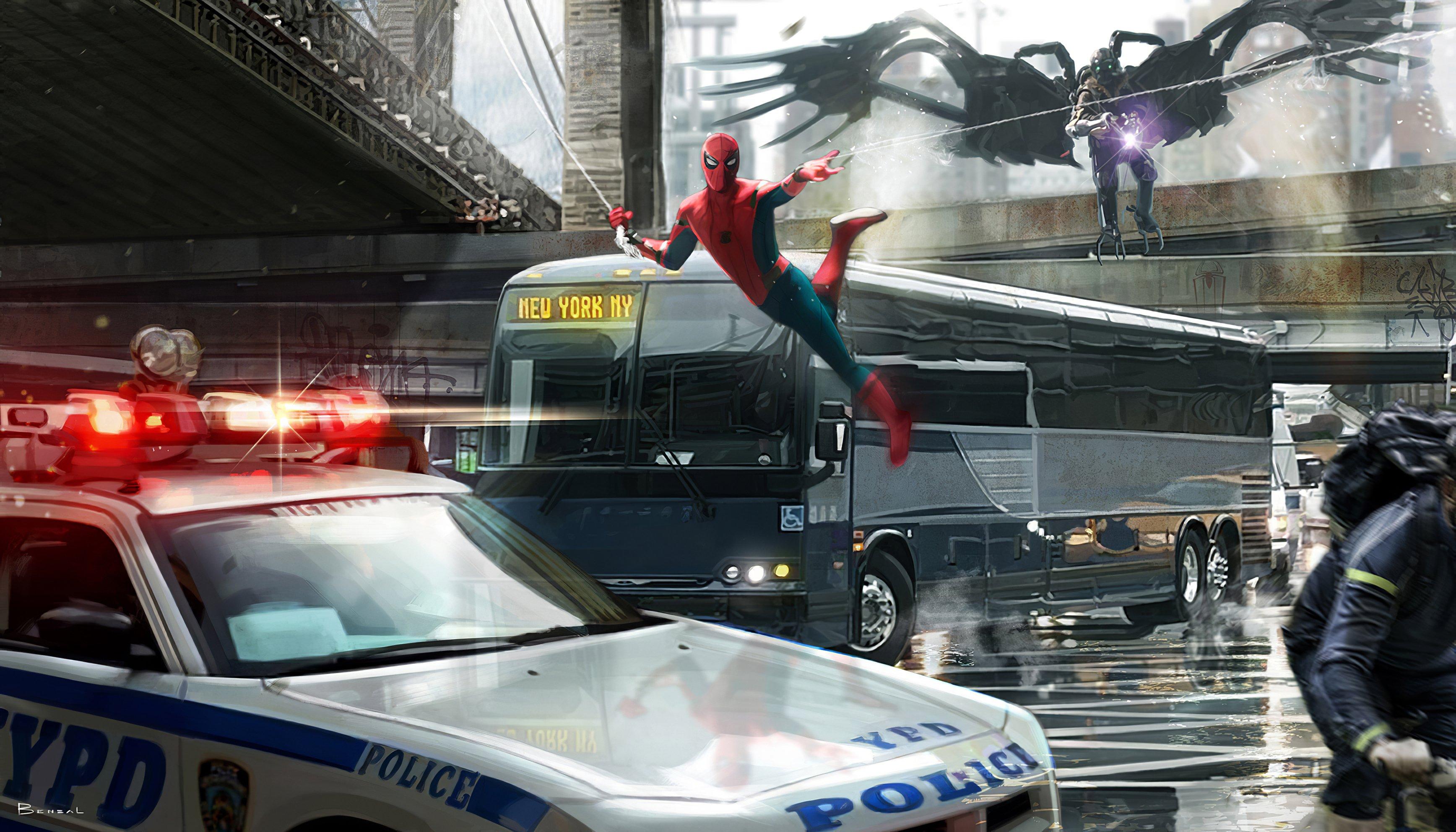 Wallpaper Spiderman in Queens Fanart