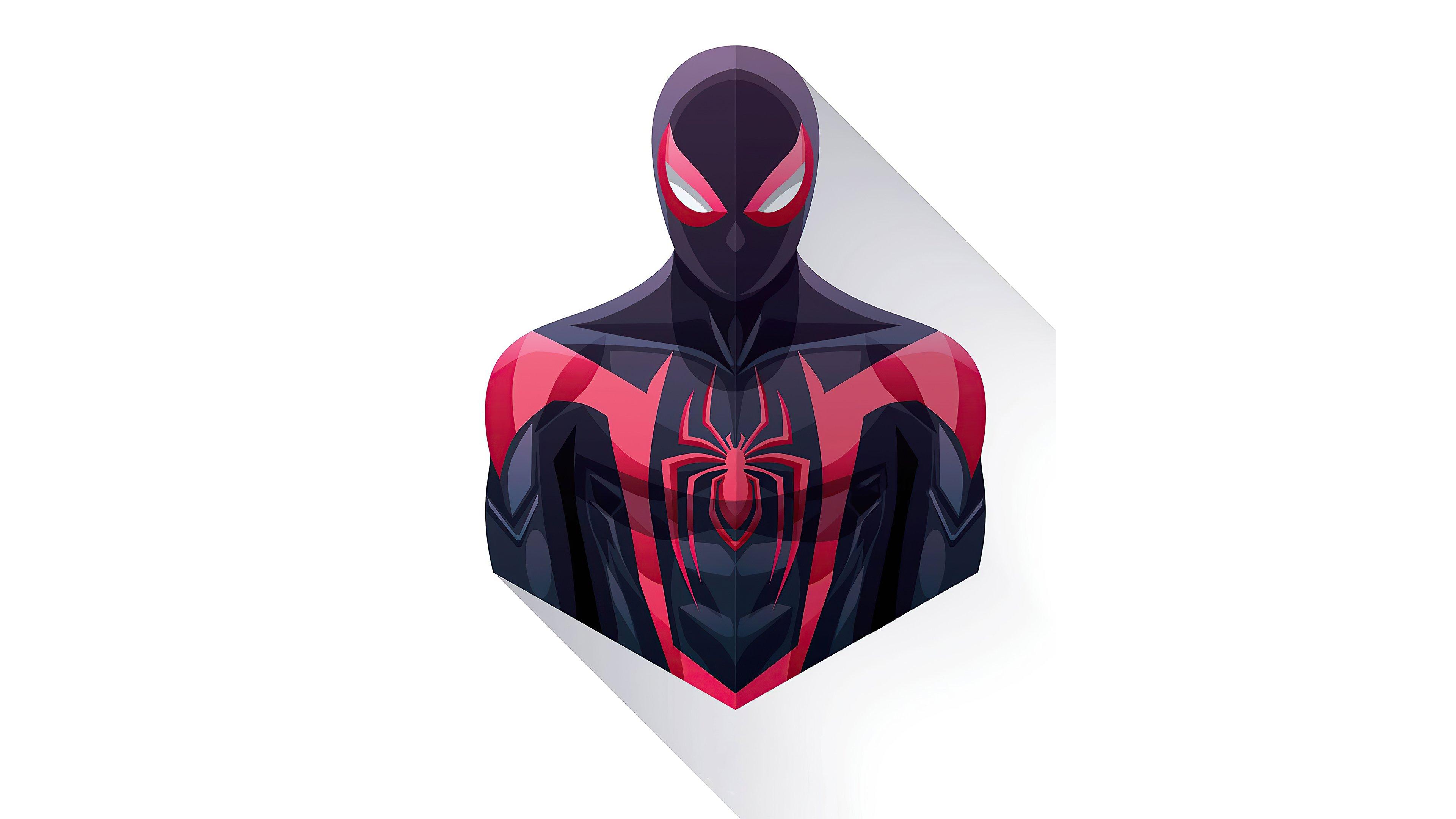 Fondos de pantalla Spiderman Negro estilo minimalista