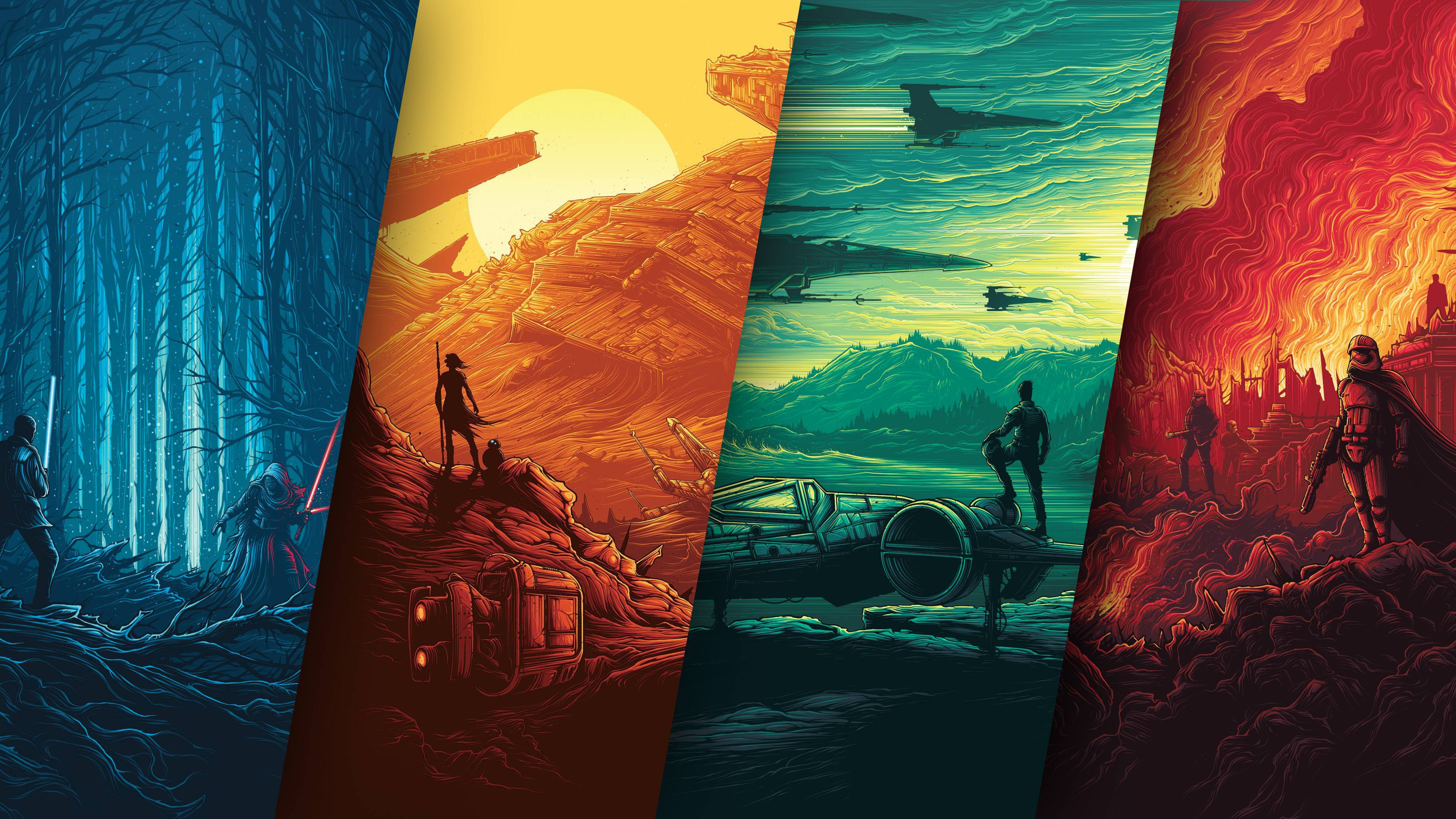 Fondos de pantalla Star Wars El despertar de la Fuerza Poster