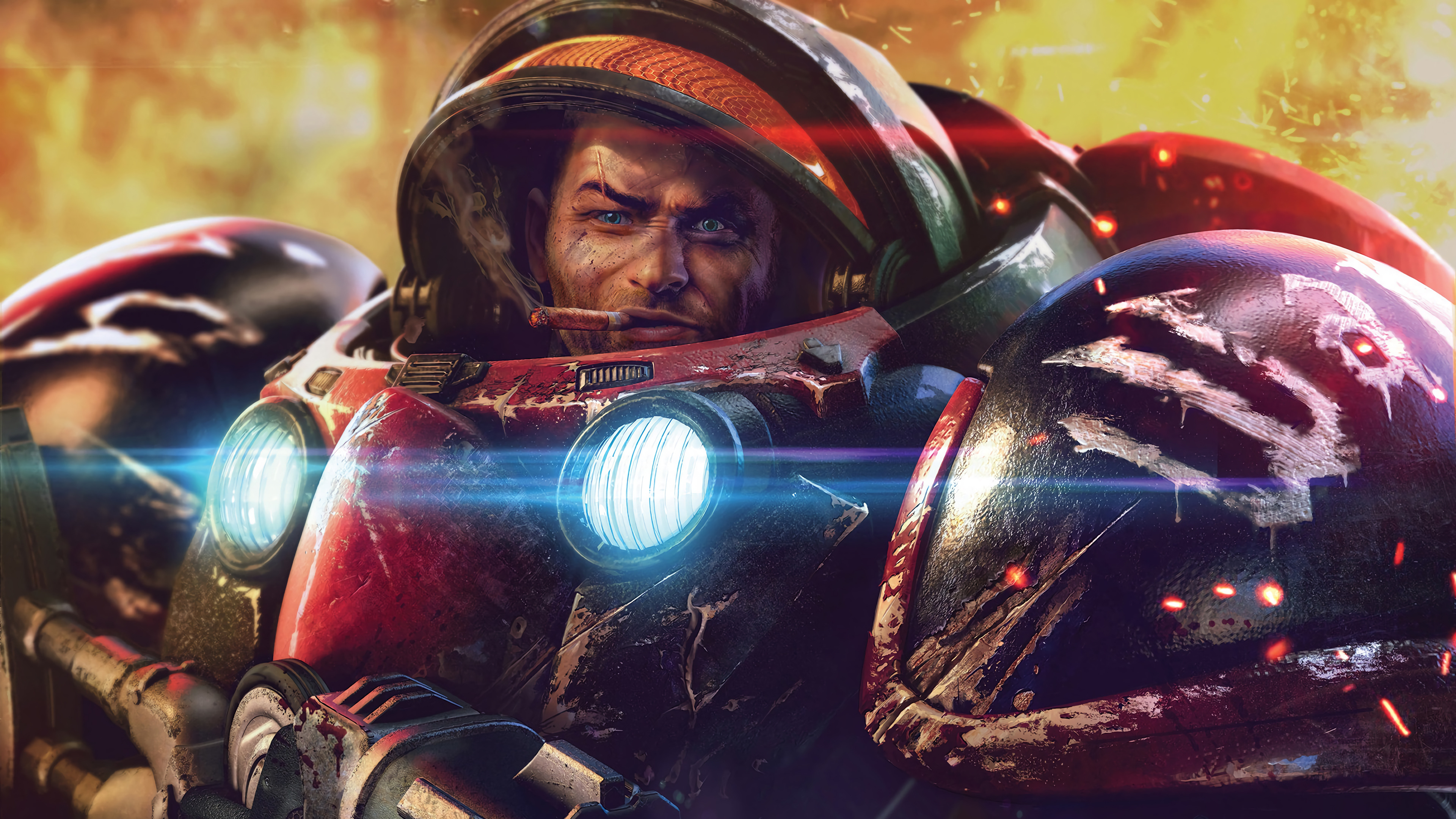 Fondos de pantalla Starcraft Terran Soldado ciencia ficción