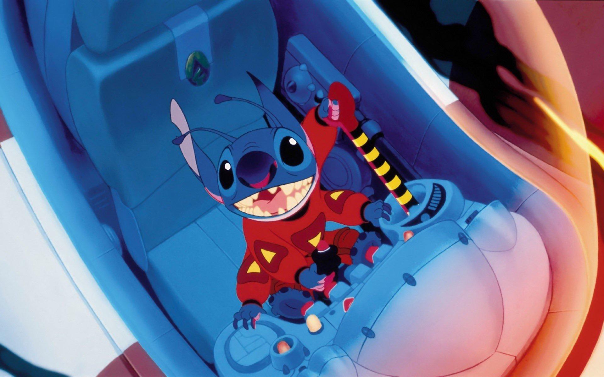 Fondo de pantalla de Stitch en Nave espacial Imágenes
