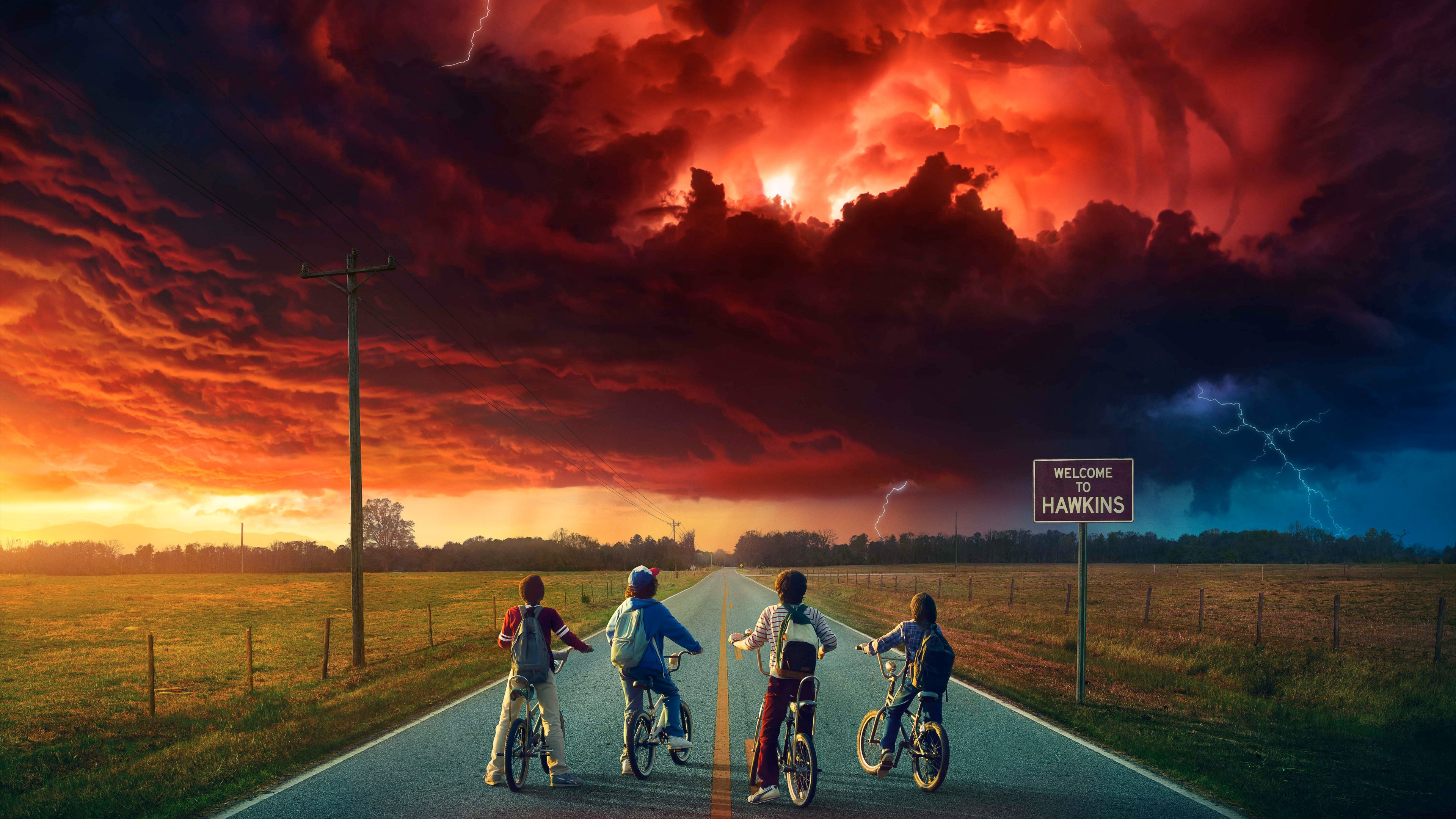 Stranger Things Welcome To Hawkins Wallpaper 4k Ultra Hd Id3328