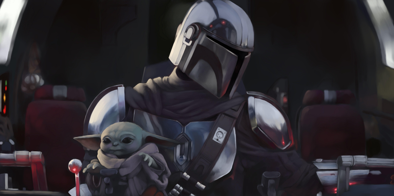 Fondos de pantalla Strormstrooper y Yoda en El Mandaloriano