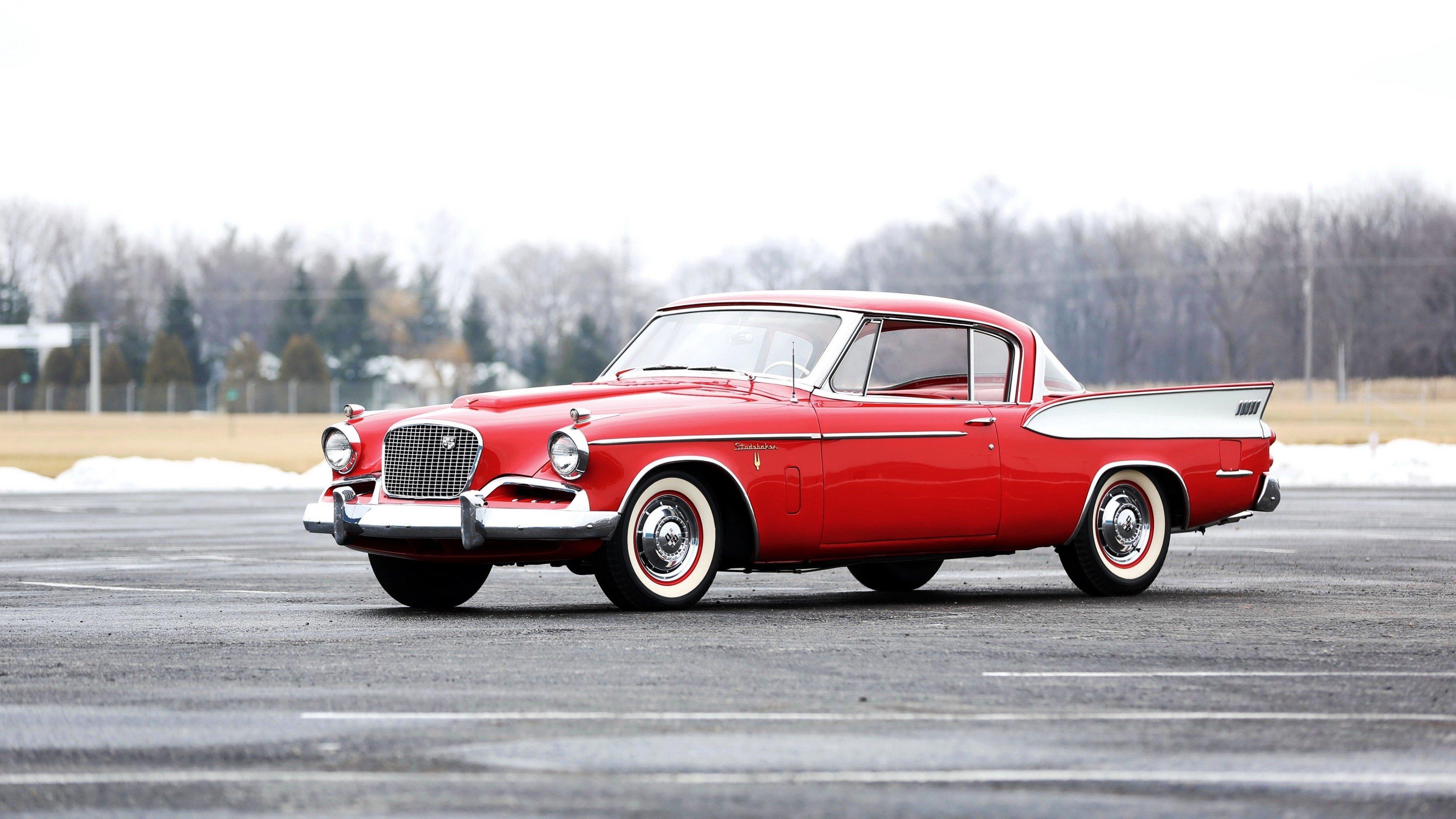 Wallpaper Studebaker Golden Hawk 1957 red