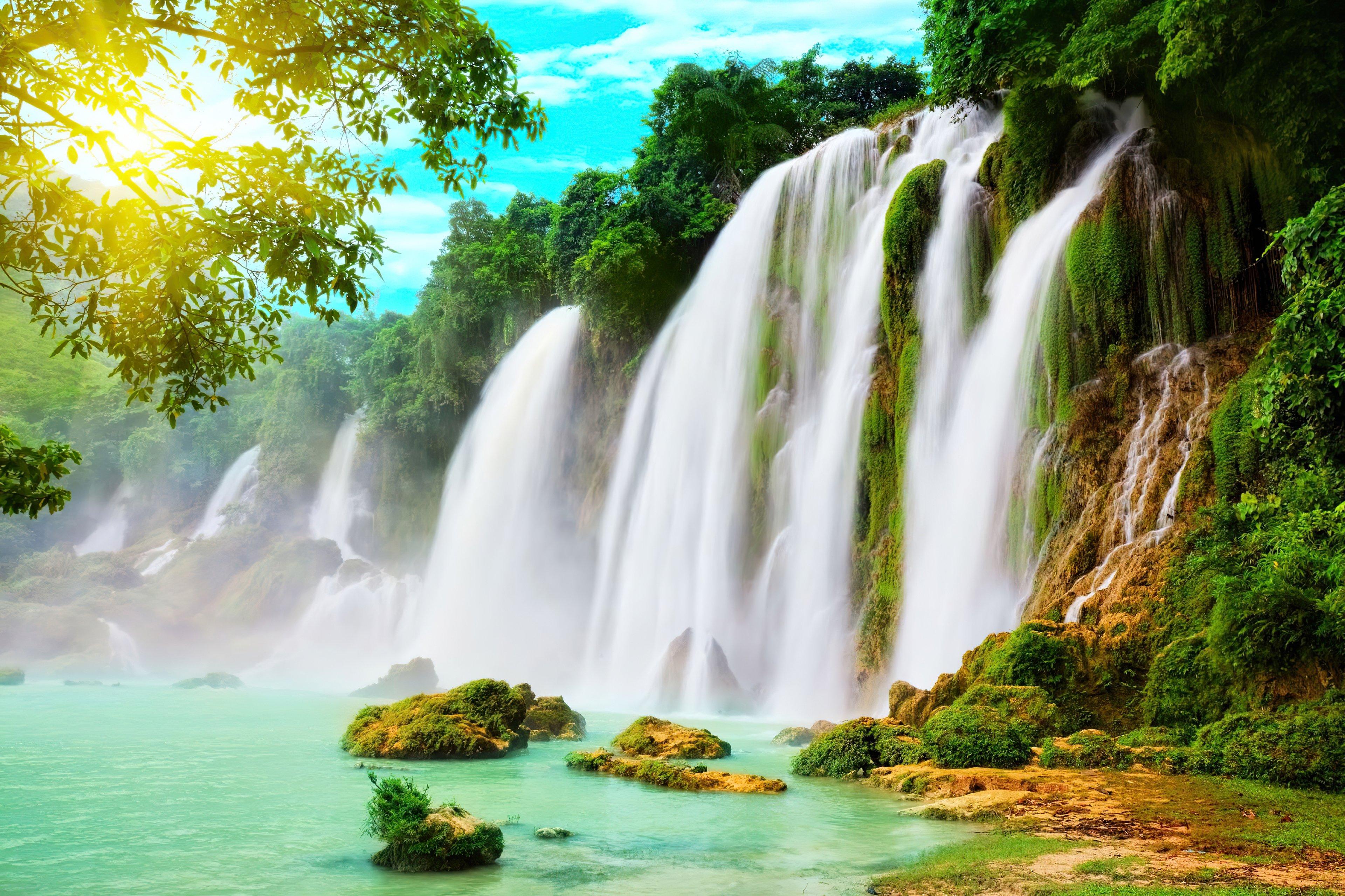 Fondos de pantalla Sueño a través de cascadas