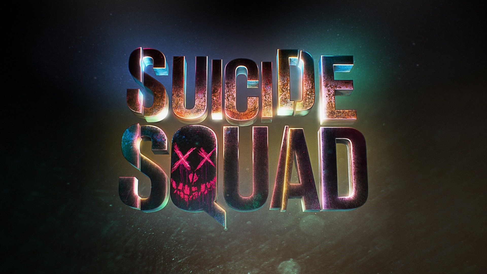 Wallpaper Suicide Squad Title with Lights