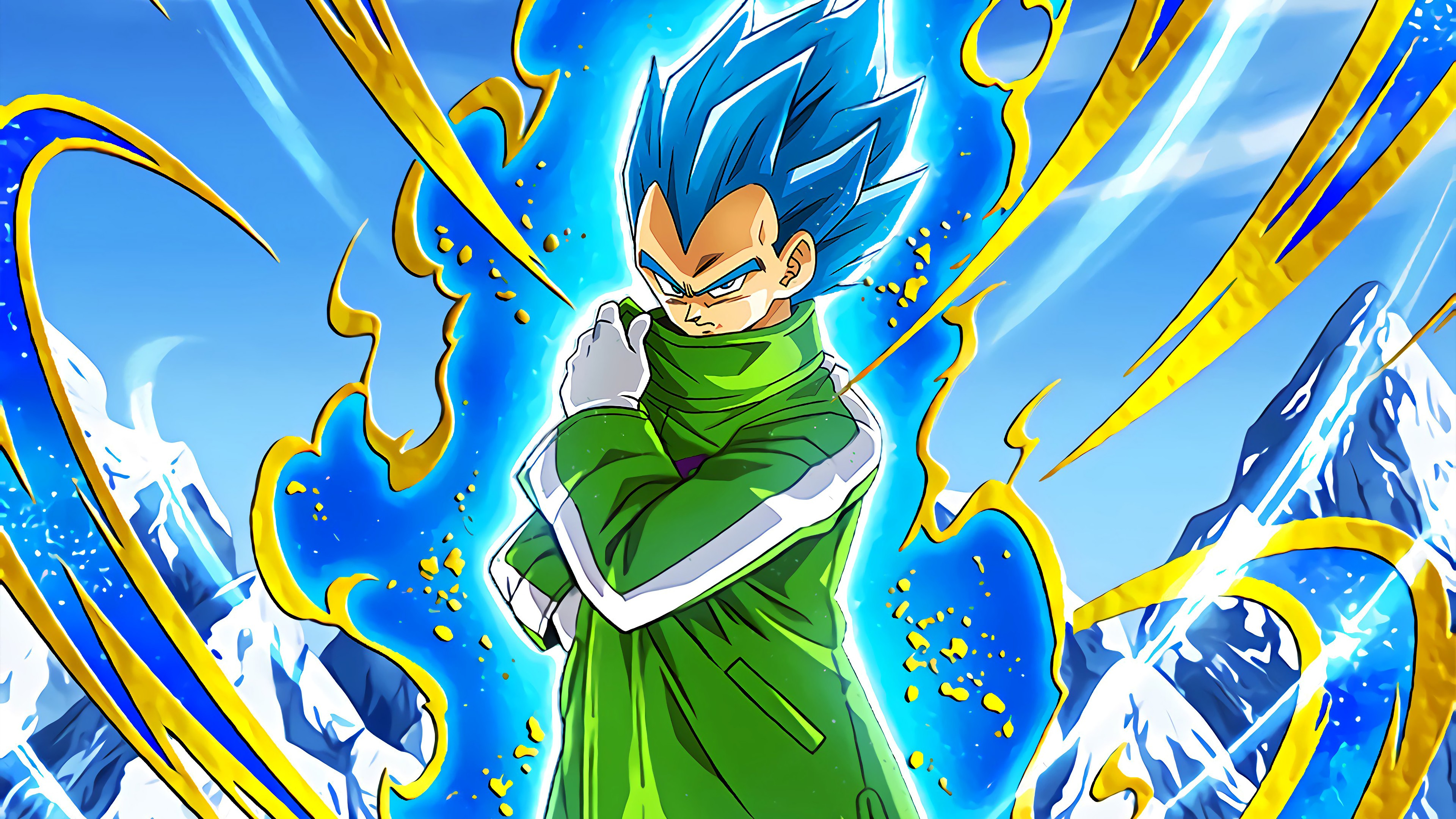 Super Saiyan Blue Vegeta Dragon Ball Super Anime Fondo De