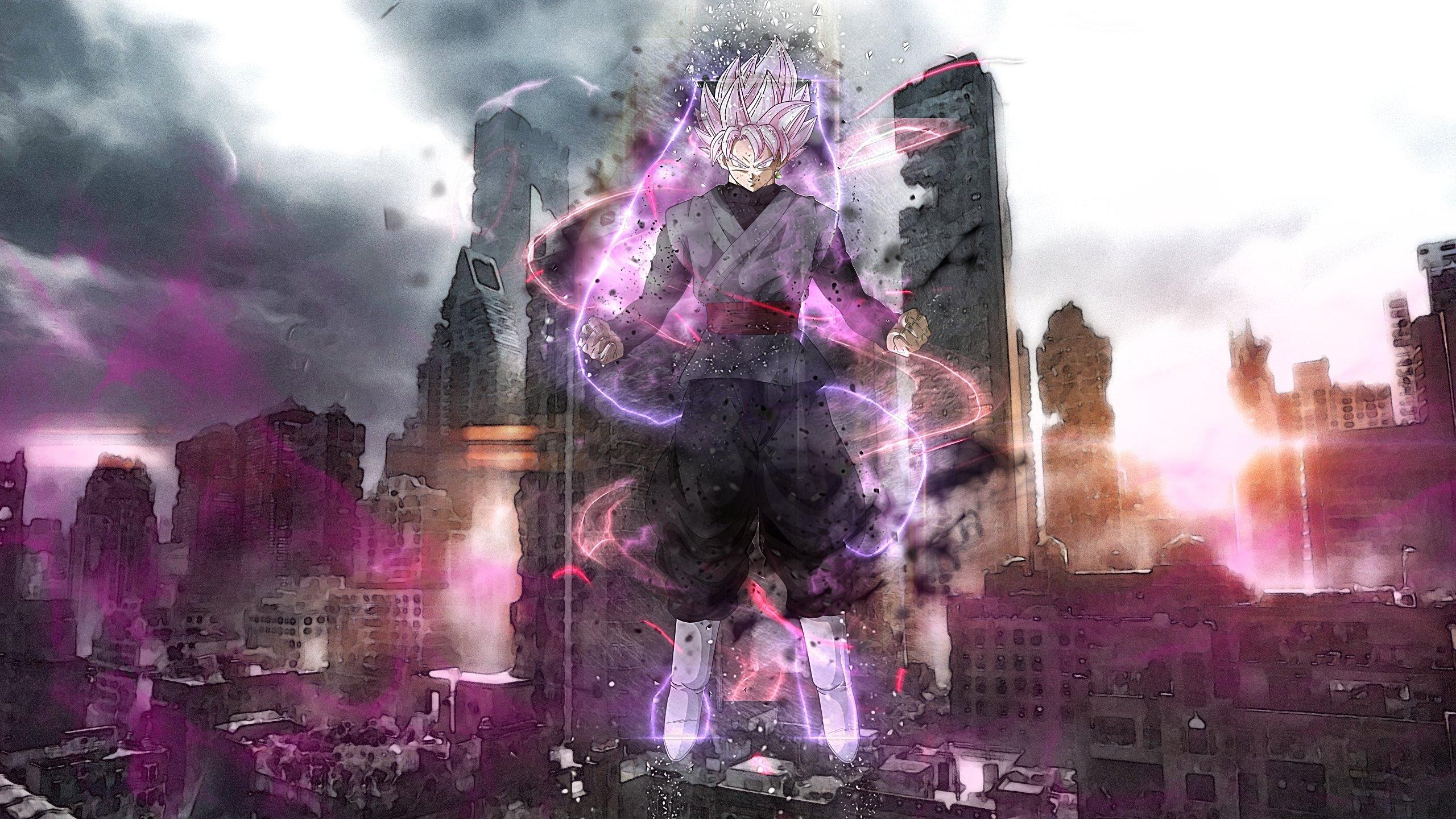 Fondos de pantalla Anime Super Saiyan Rosado Black Goku Dragon Ball Super