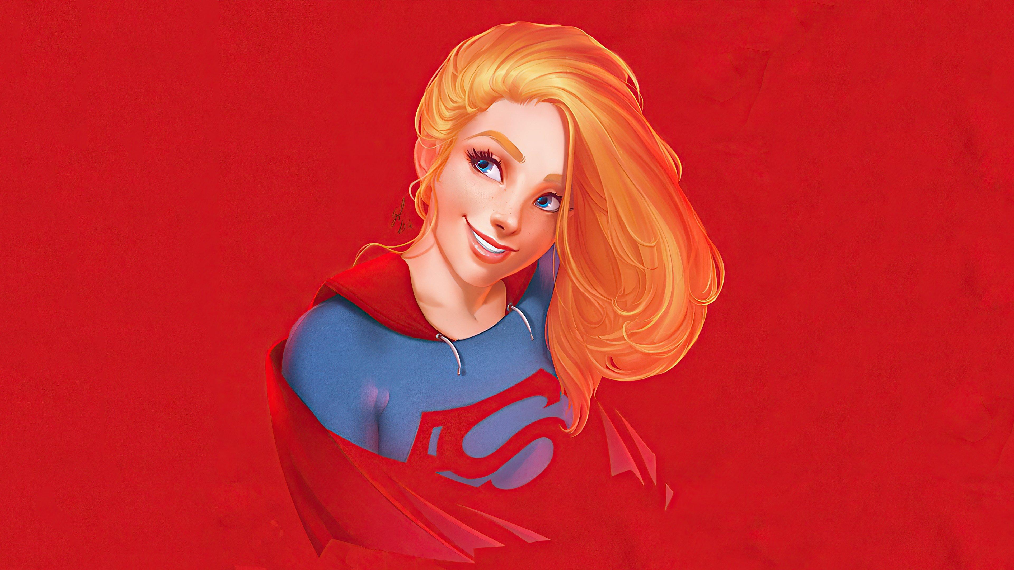 Fondos de pantalla Supergirl sonriendo Fanart