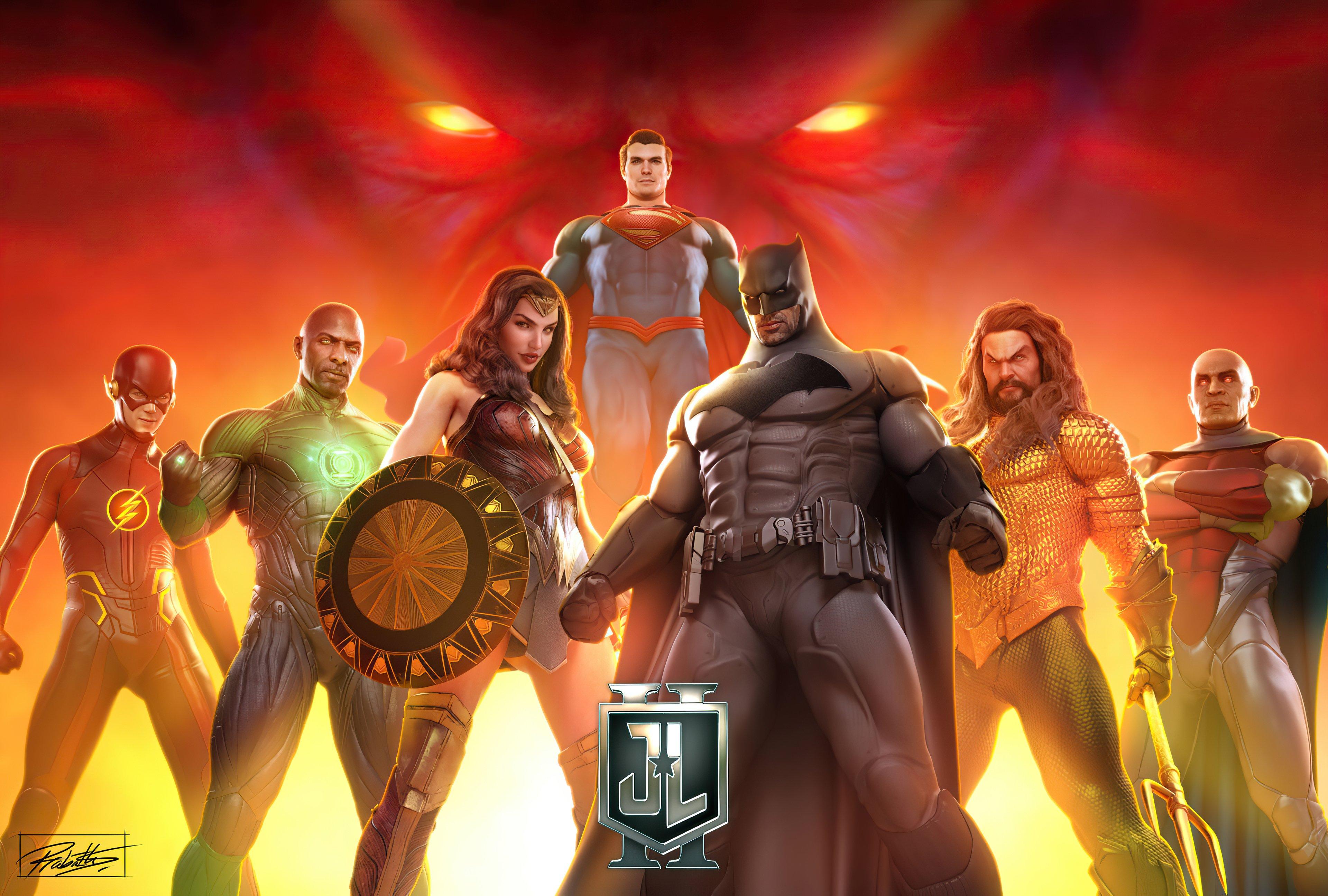 Wallpaper Justice League Superheroes