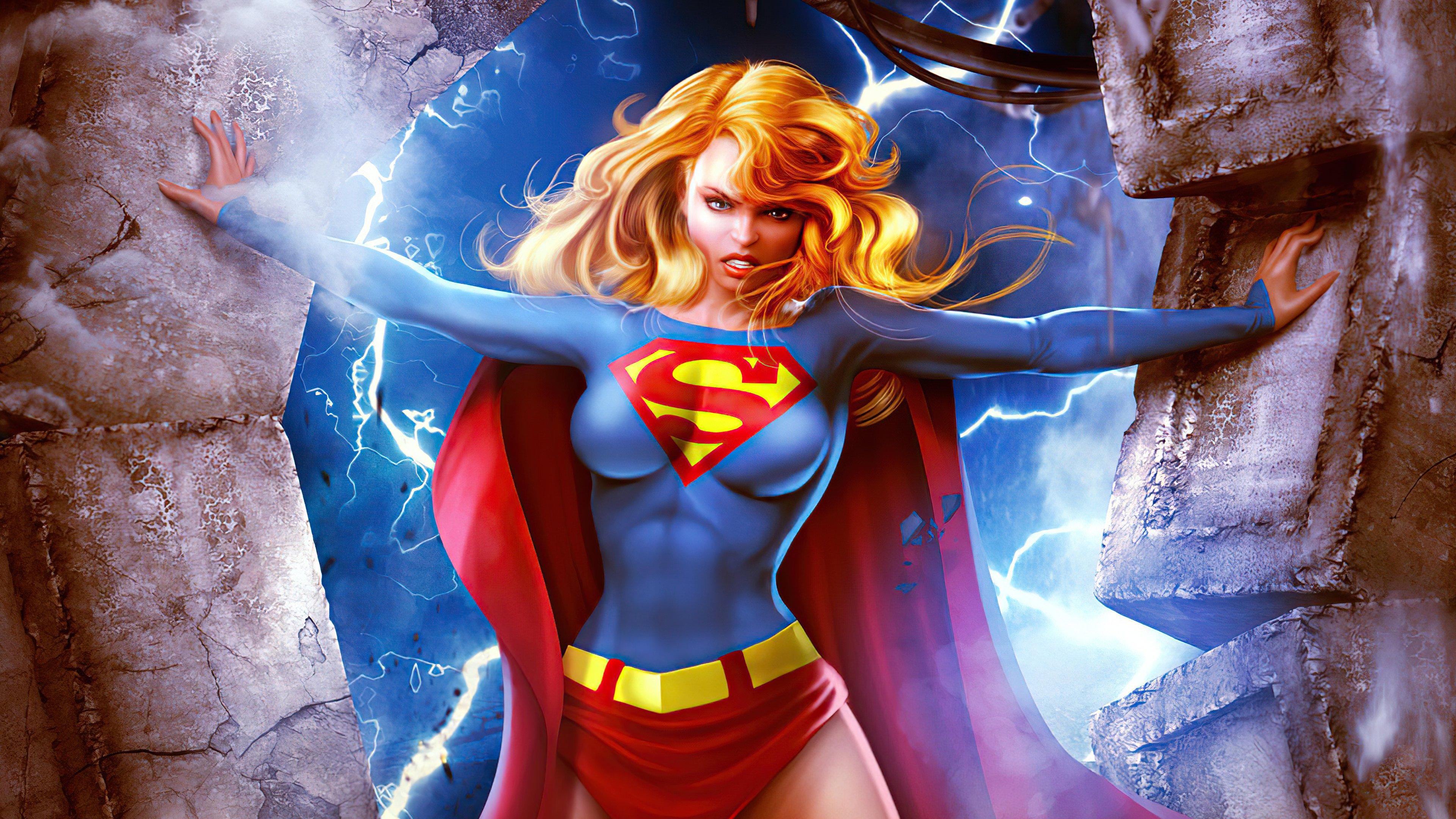 Wallpaper Supergirl Superhero Fanart