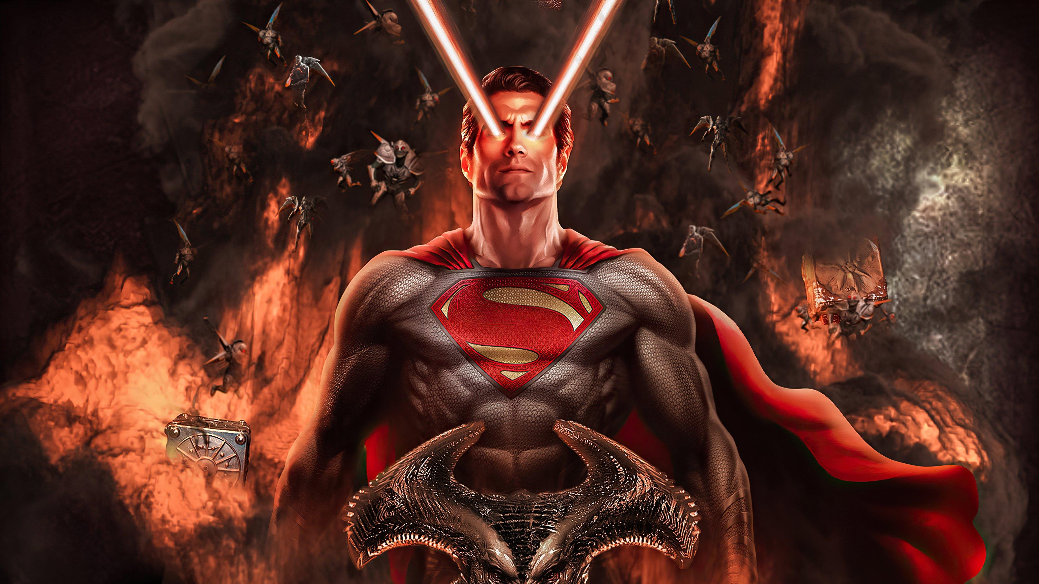 Fondos de pantalla Superman con laser en ojos
